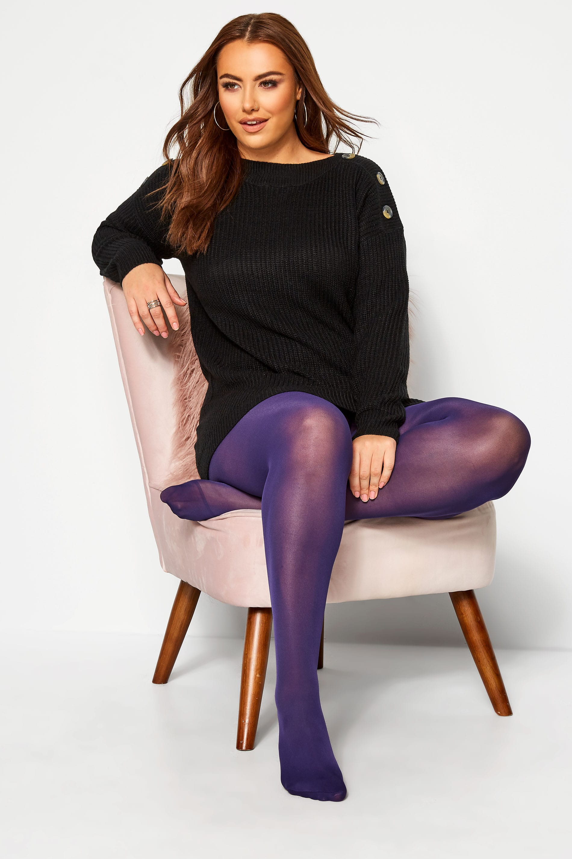 Purple 50 Denier Comfort Tights