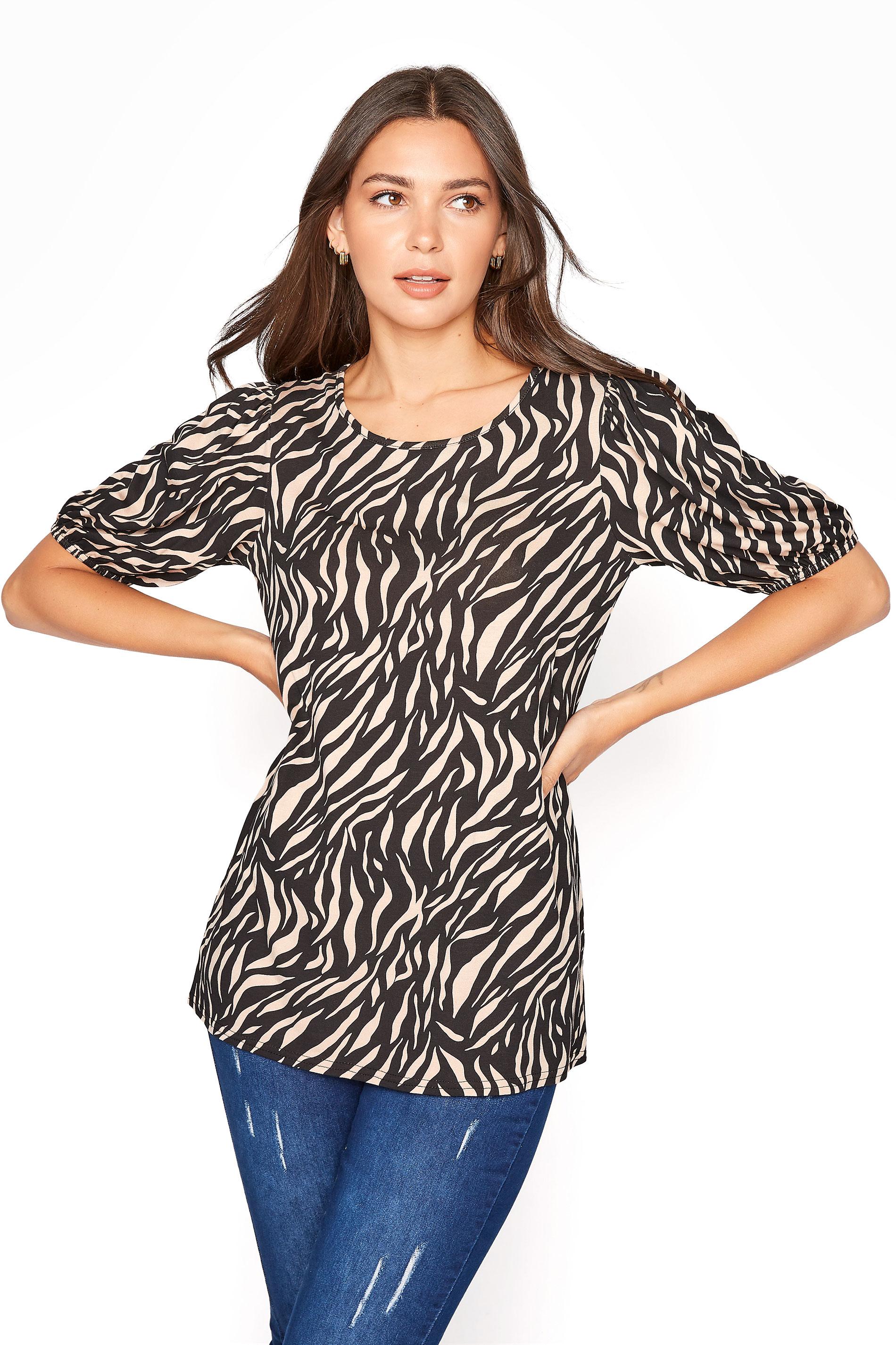 LTS Black Zebra Volume Sleeve T-Shirt