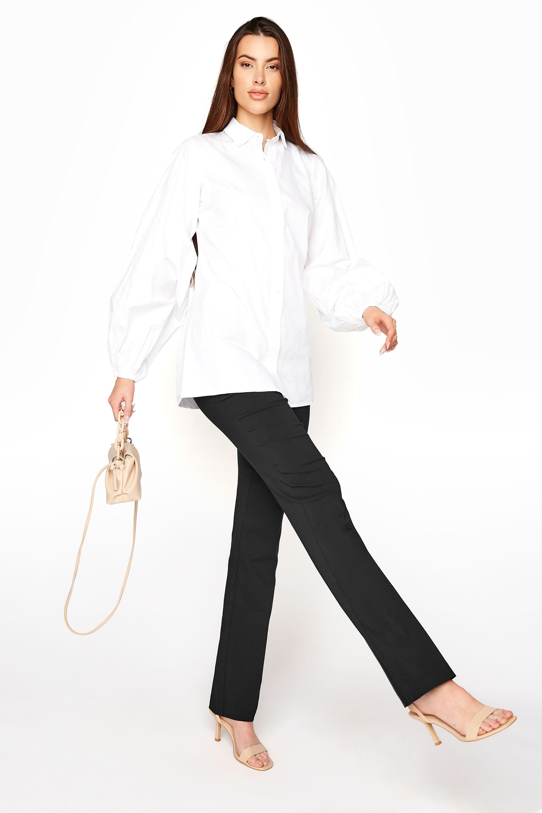 Tall Black Bi-Stretch Bootcut Trousers