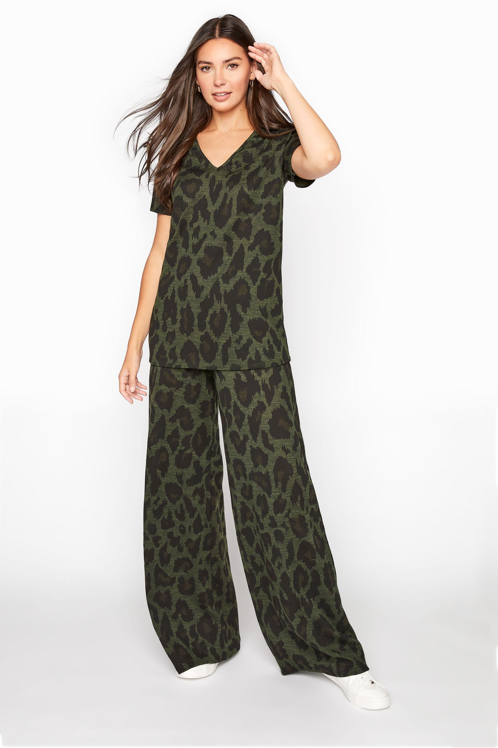 LTS Khaki Leopard Print Lounge Trousers_A.jpg