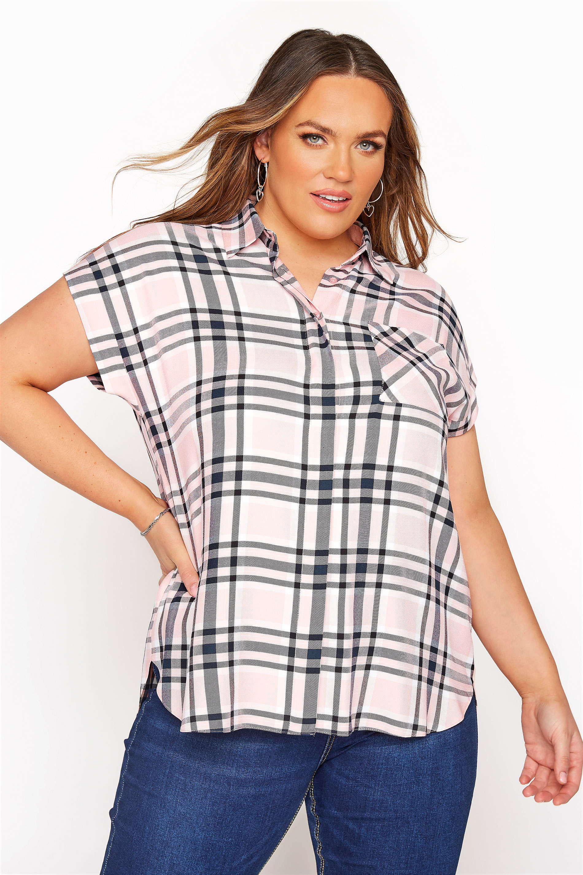 YOURS LONDON Pink Check Shirt
