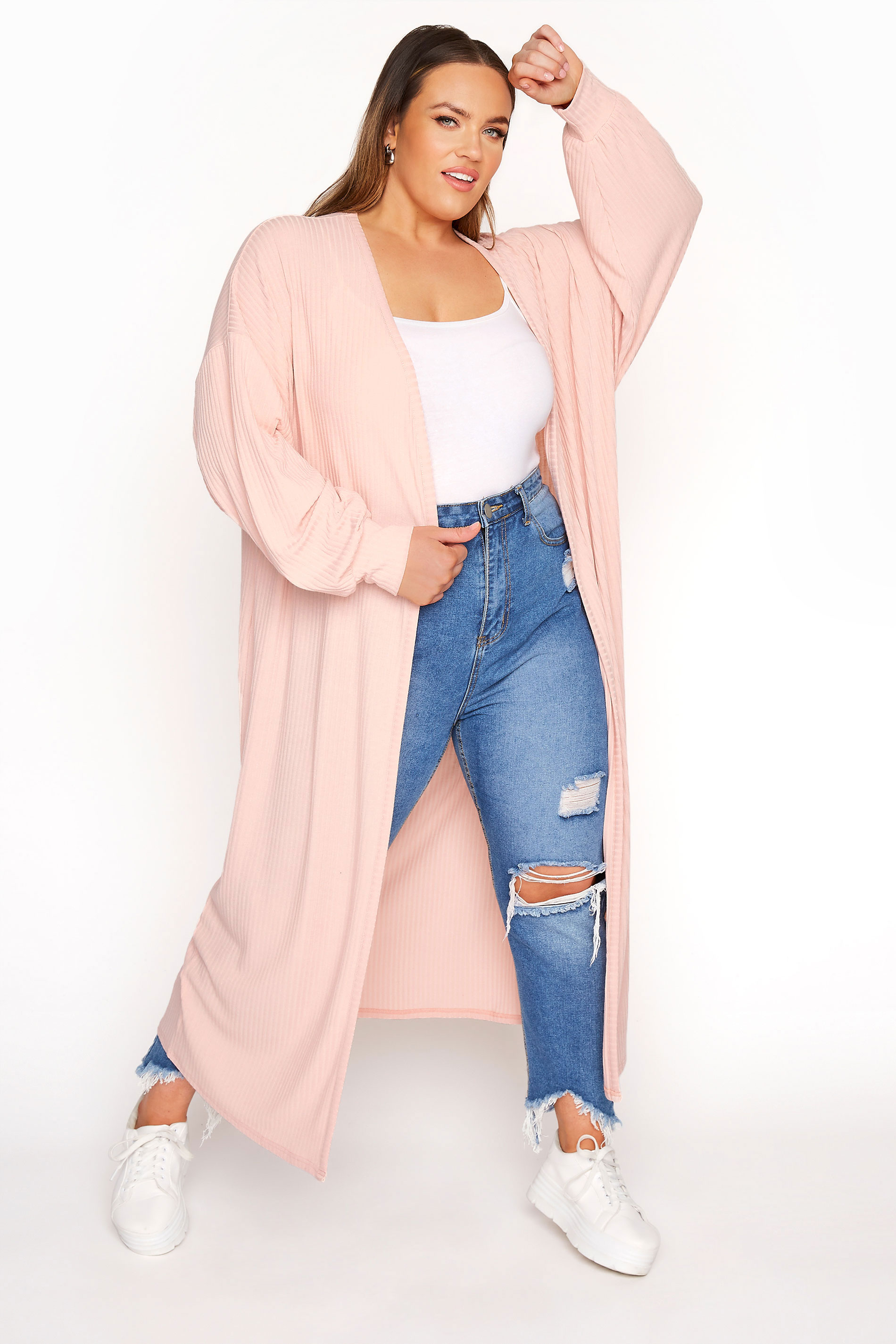 LIMITED COLLECTION Pastel Pink Long Cardigan