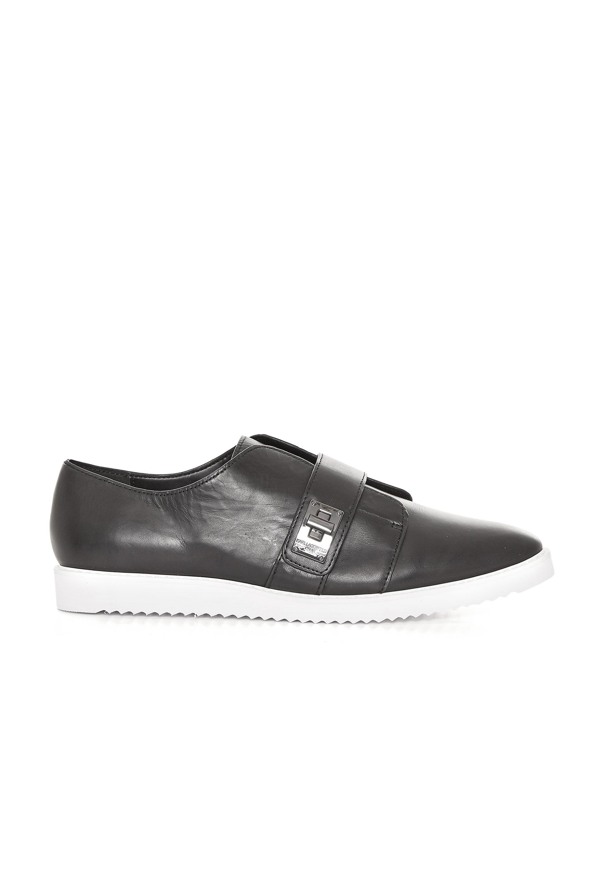 KARL LAGERFELD PARIS Black Celina Slip On Sneakers
