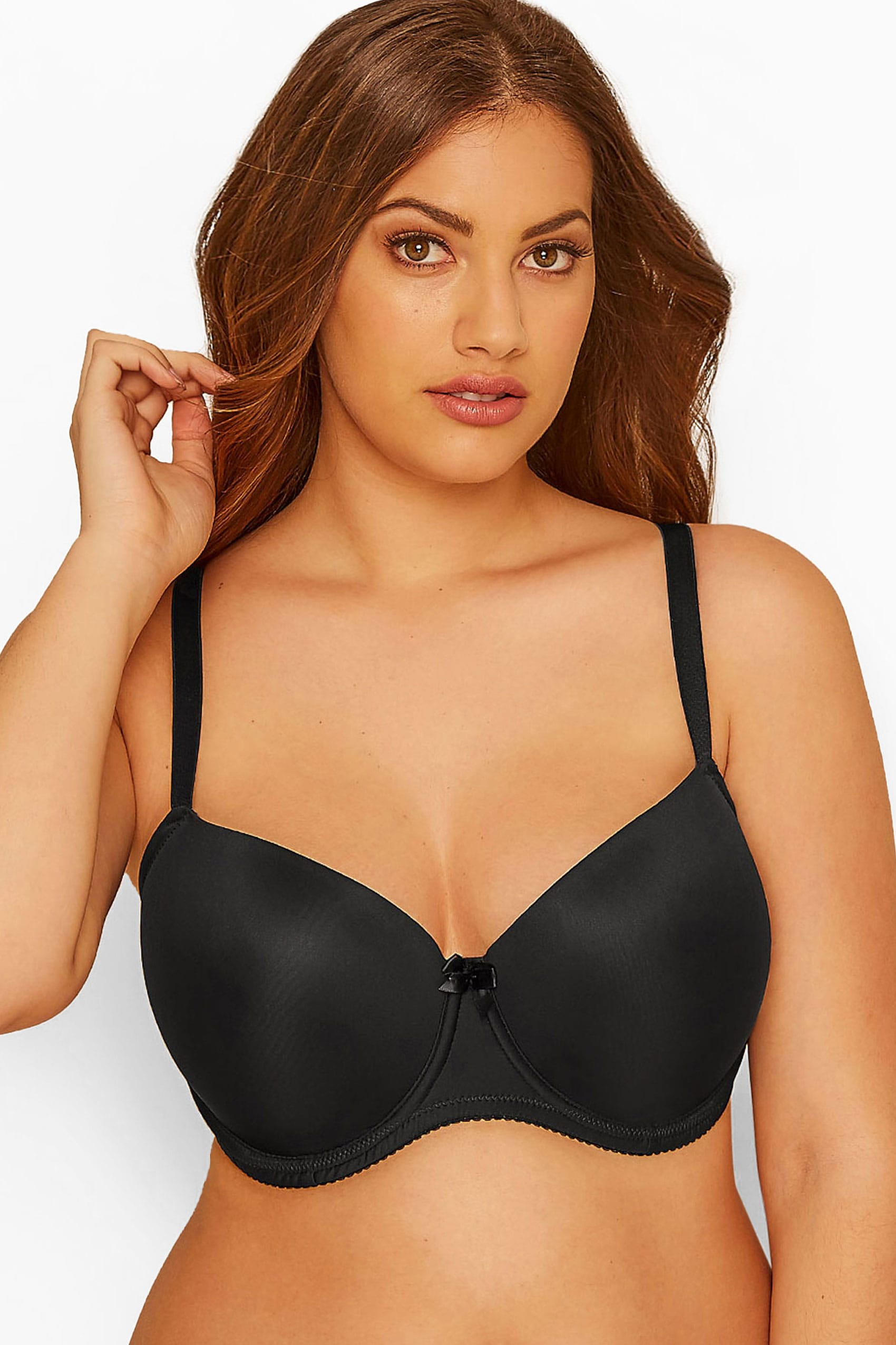 2 PACK Black Moulded T-Shirt Bra