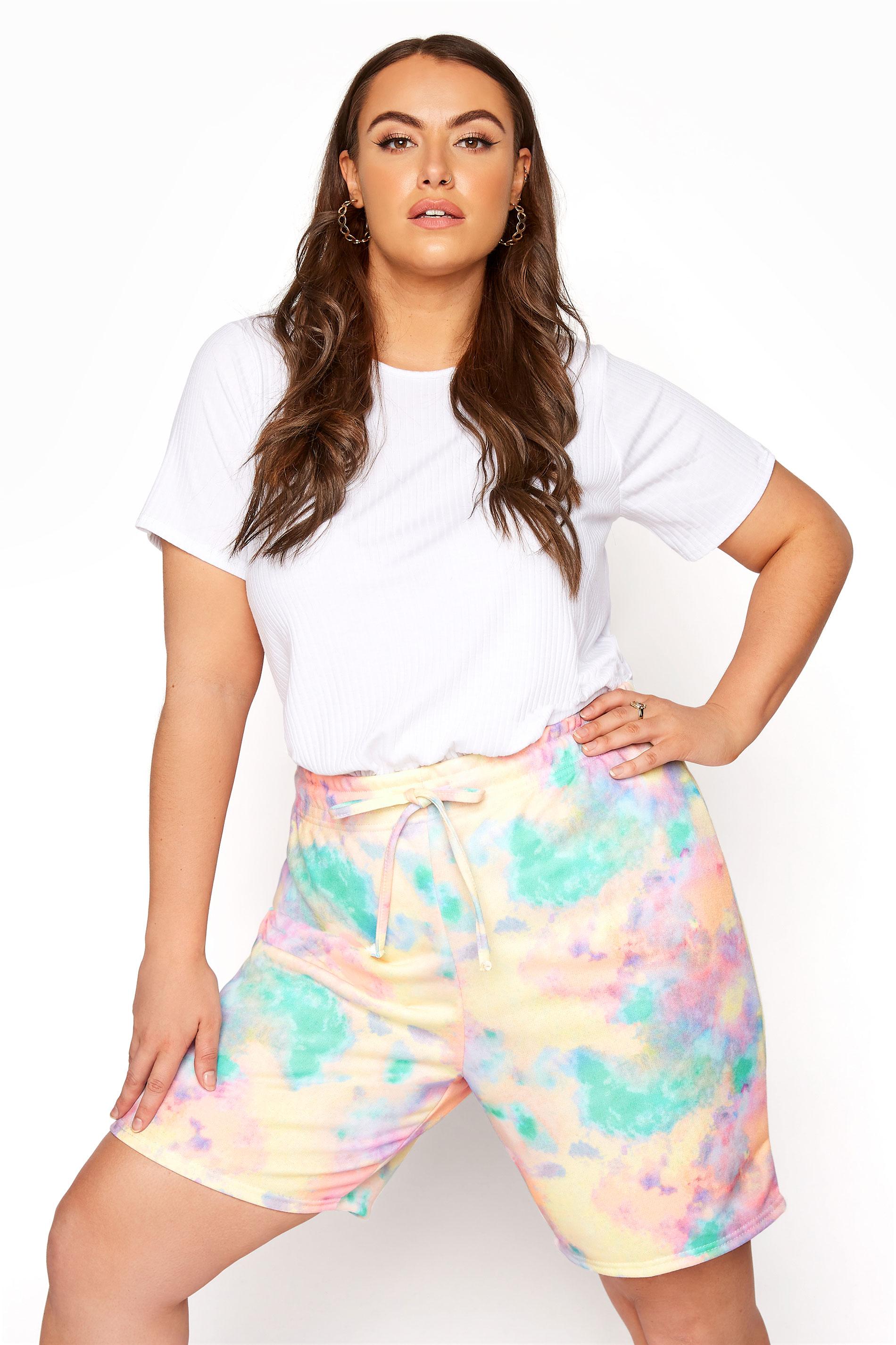 Multi Tie Dye Sweat Shorts_A.jpg