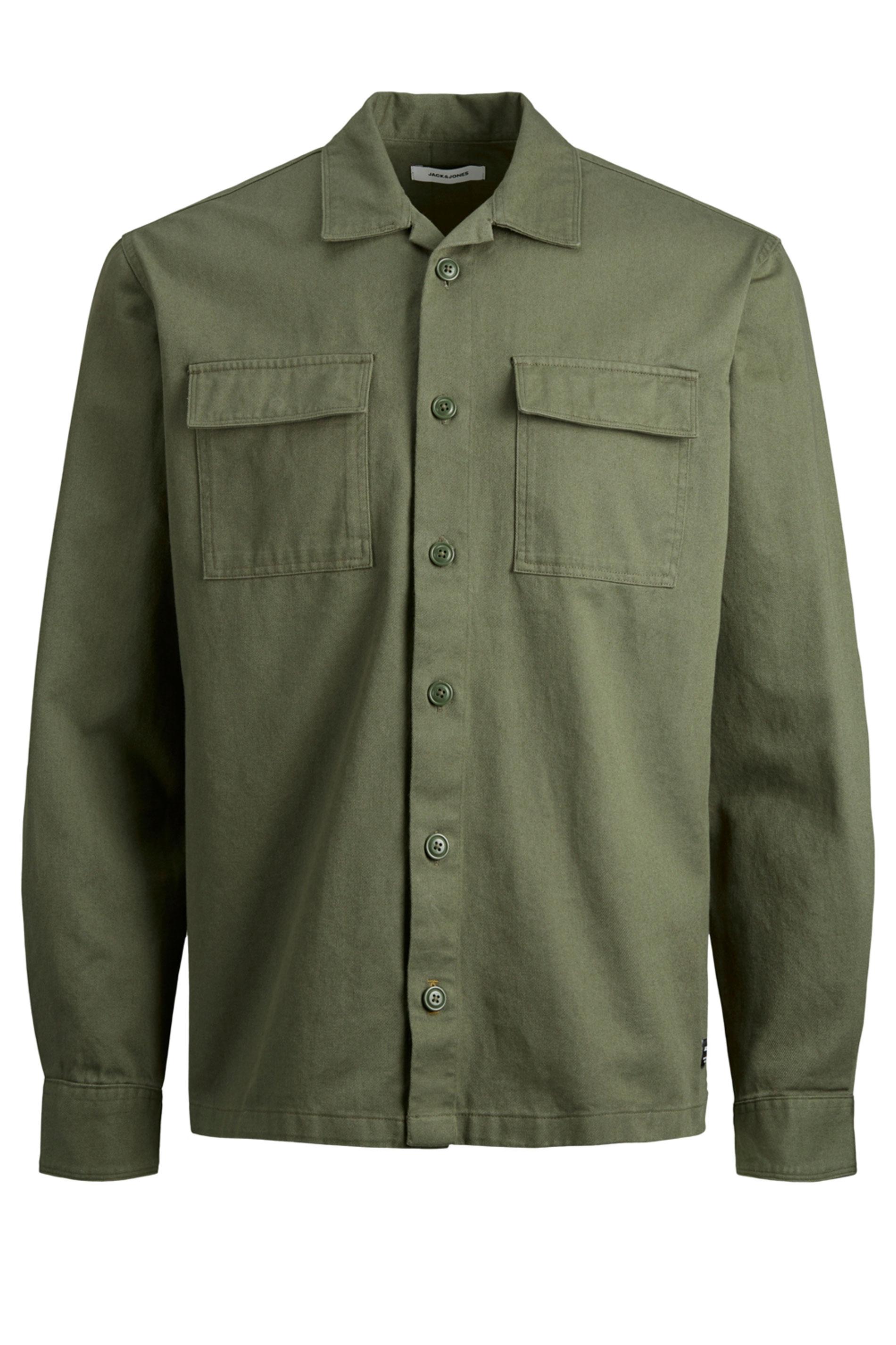 JACK & JONES Khaki Utility Overshirt