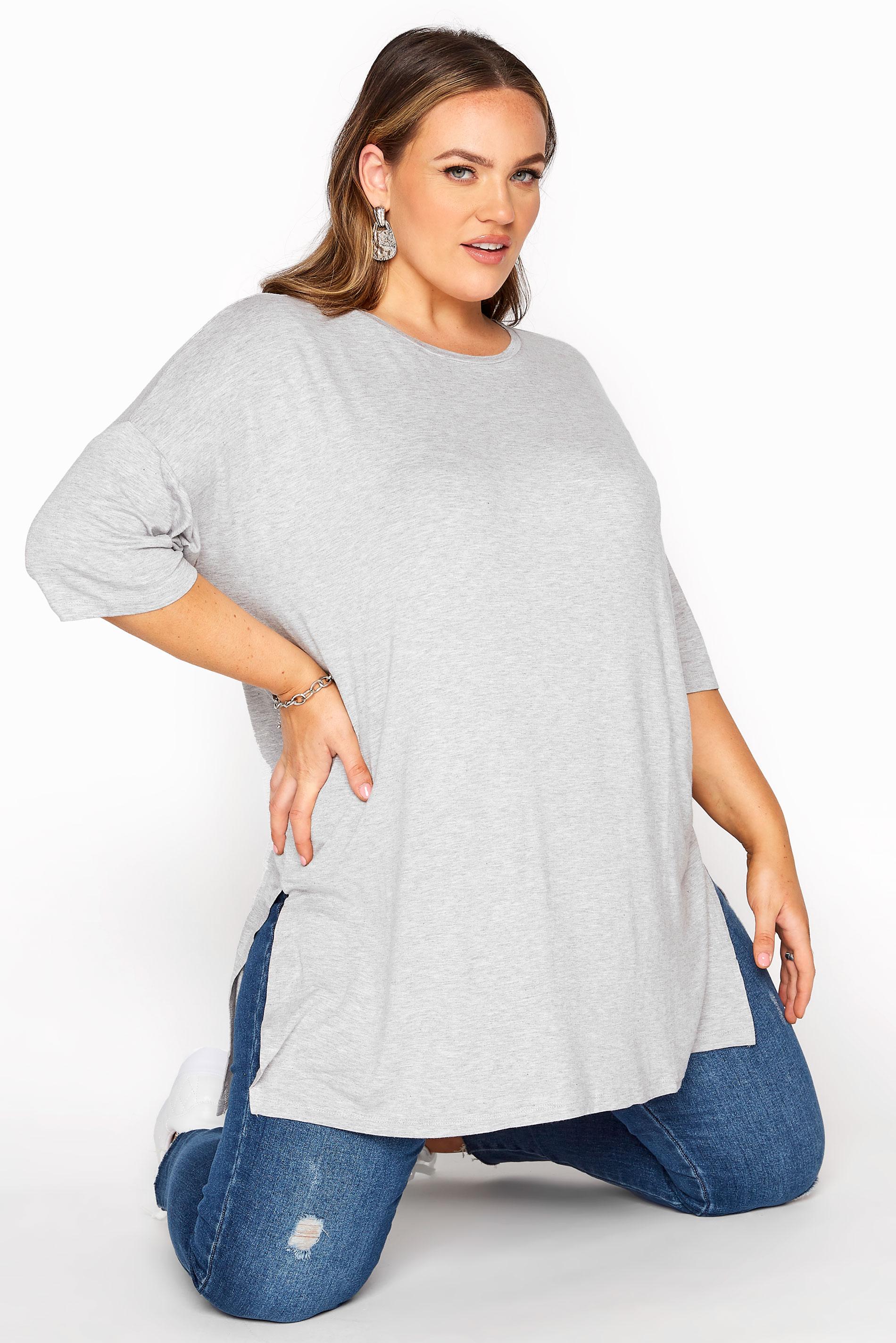 Grey Marl Oversized T-Shirt_A.jpg
