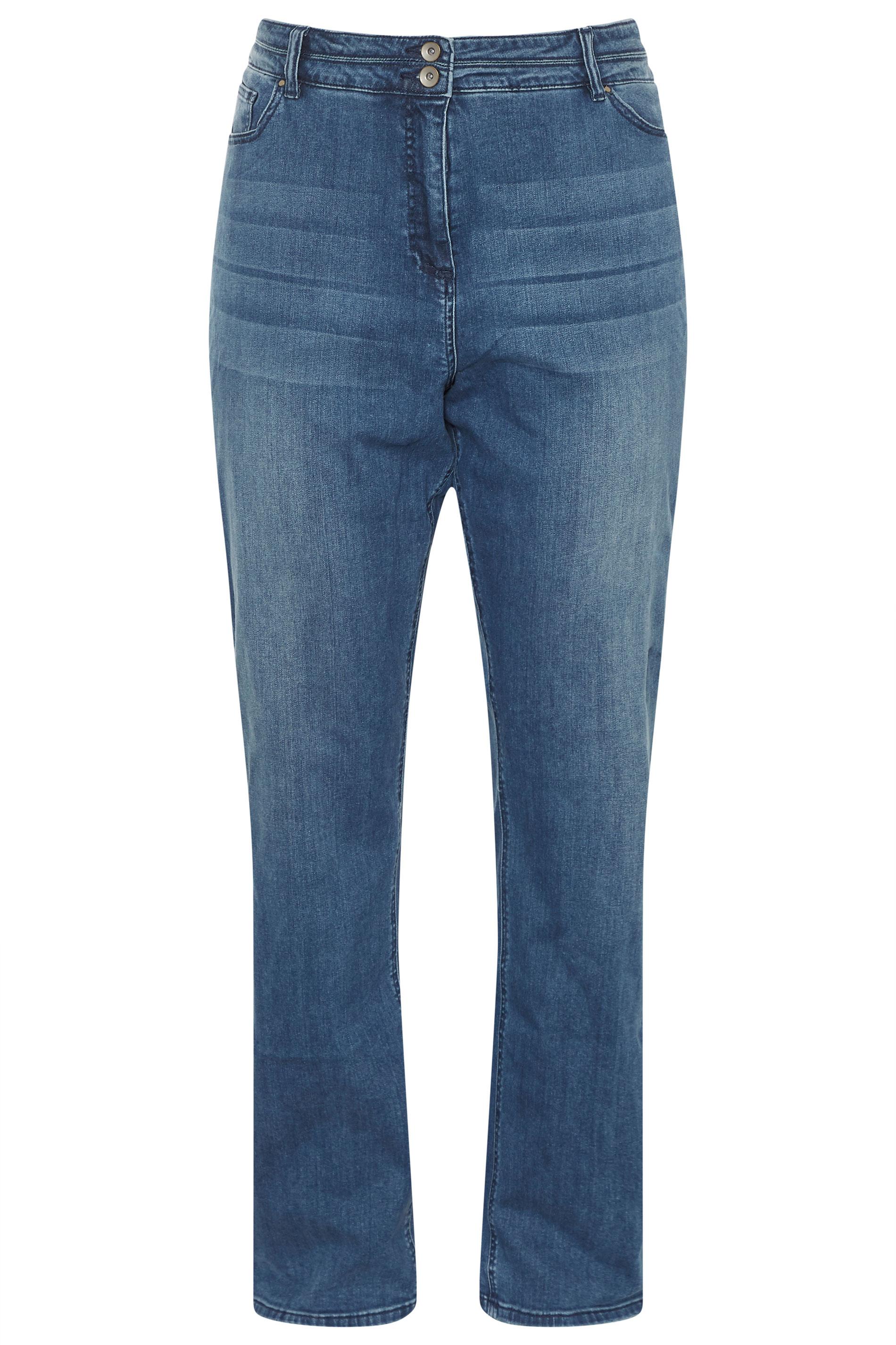 Blue Sculpt High Rise Straight Cut Jeans