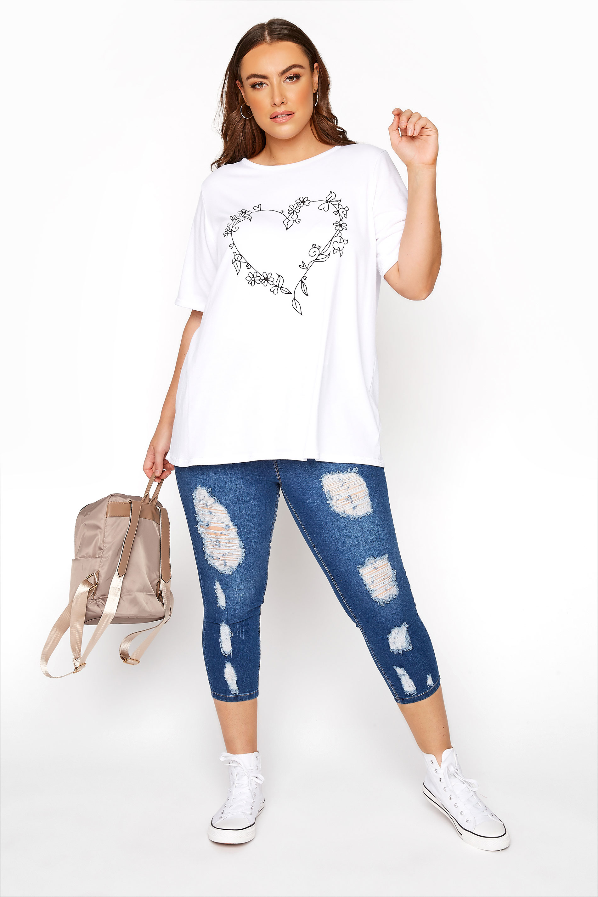 Indigo Blue Extreme Distressed Cropped JENNY Jeggings