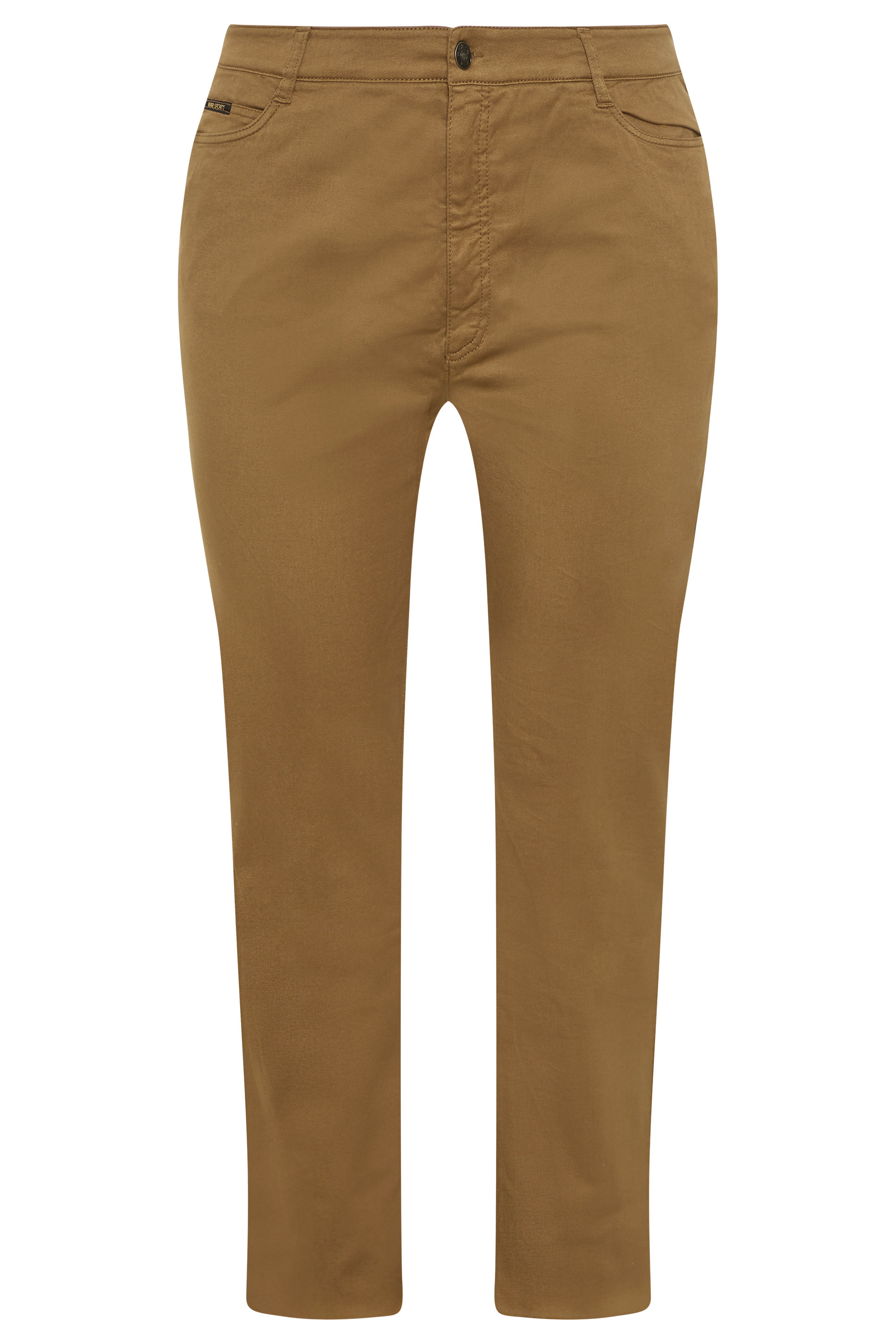 Camel Straight Cut Trousers