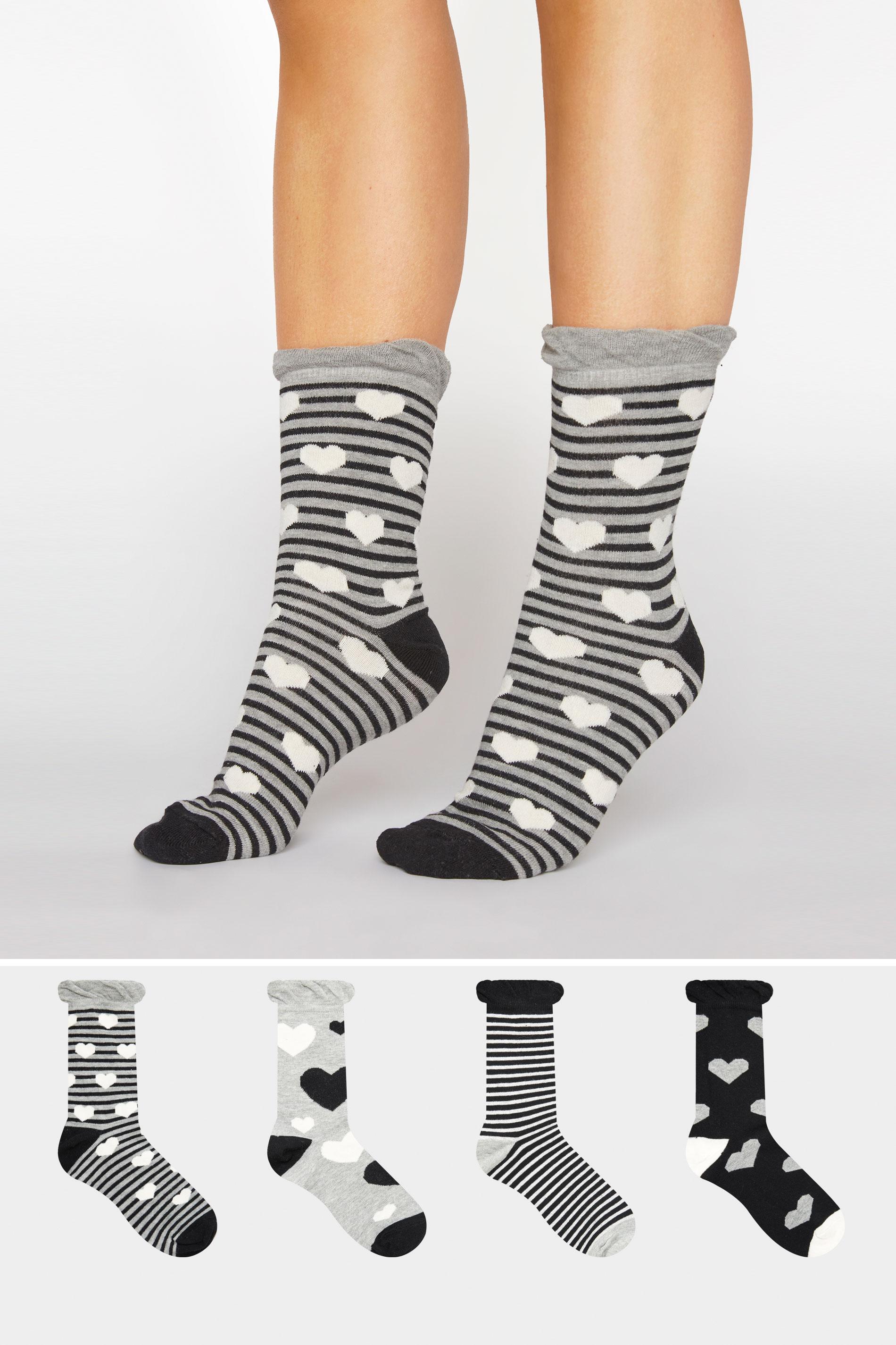 4er PACK Multi Herzen Socken