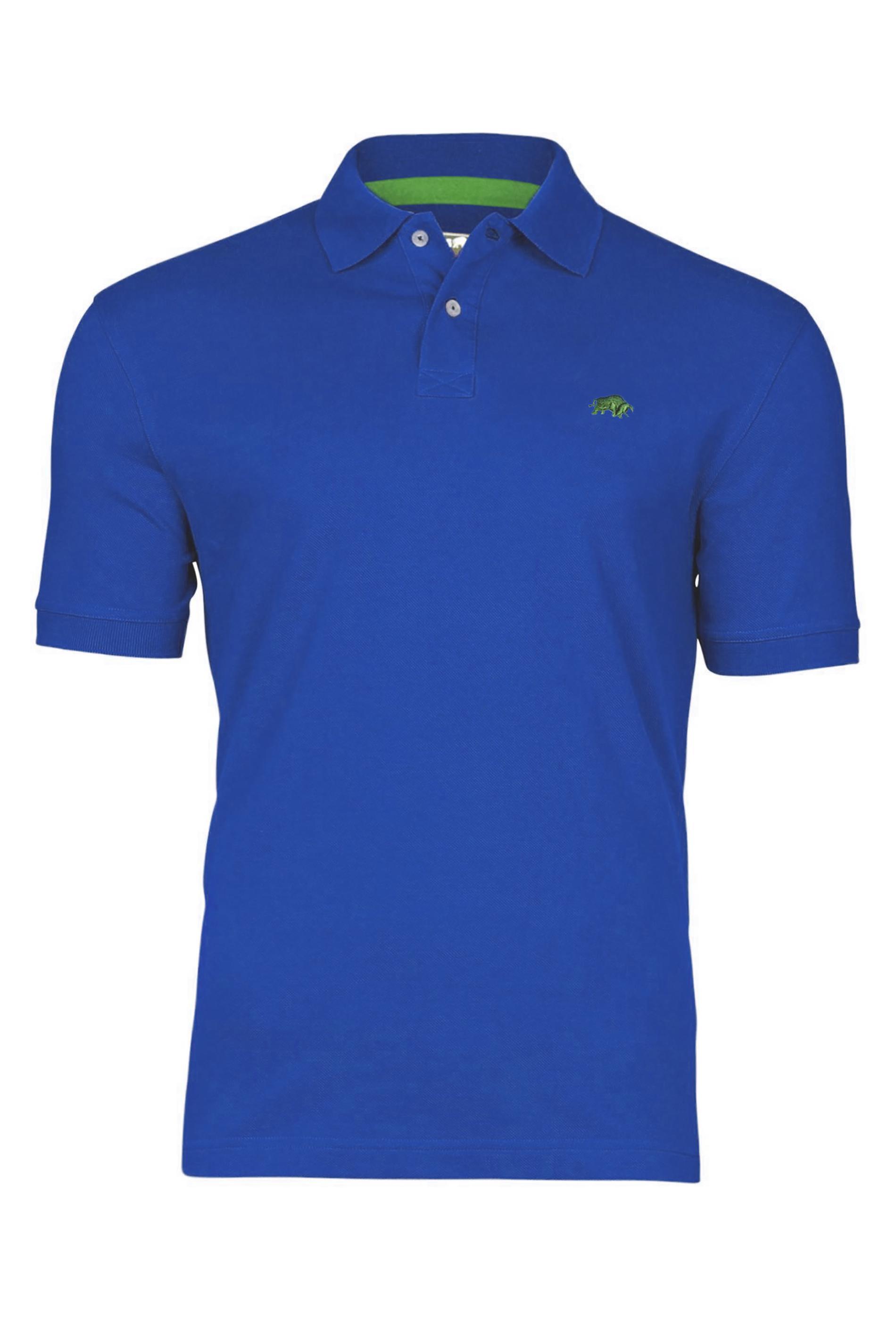 RAGING BULL Cobalt Blue Signature Pique Polo Shirt_f.jpg