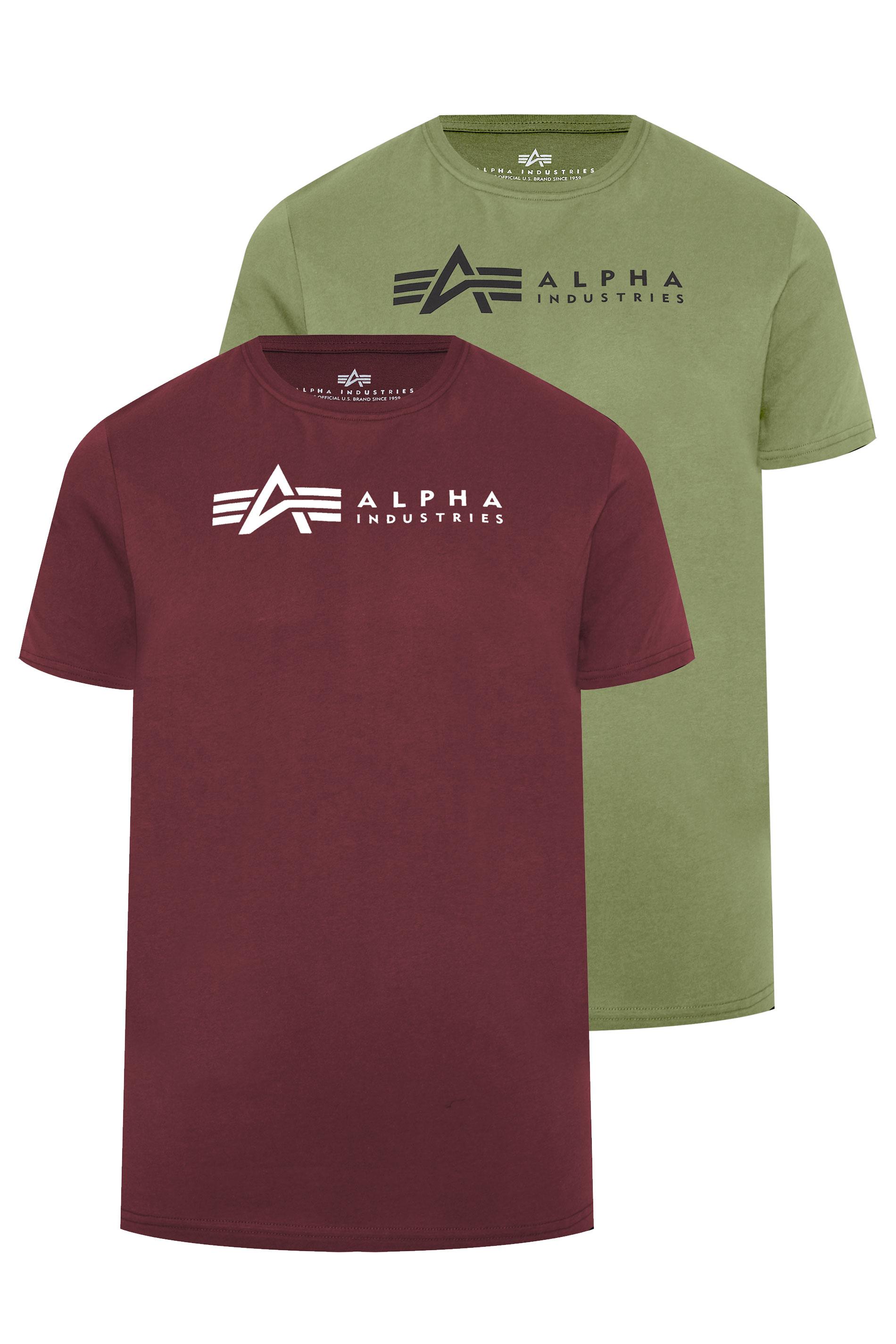 ALPHA INDUSTRIES Multi 2 Pack Logo T-Shirts