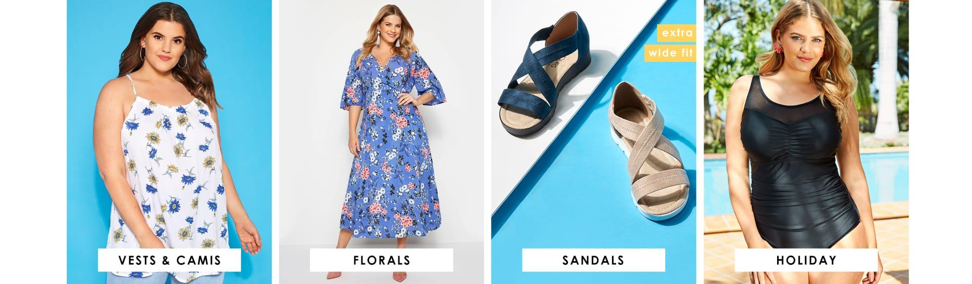Vests, Florals, Sandals, Holiday