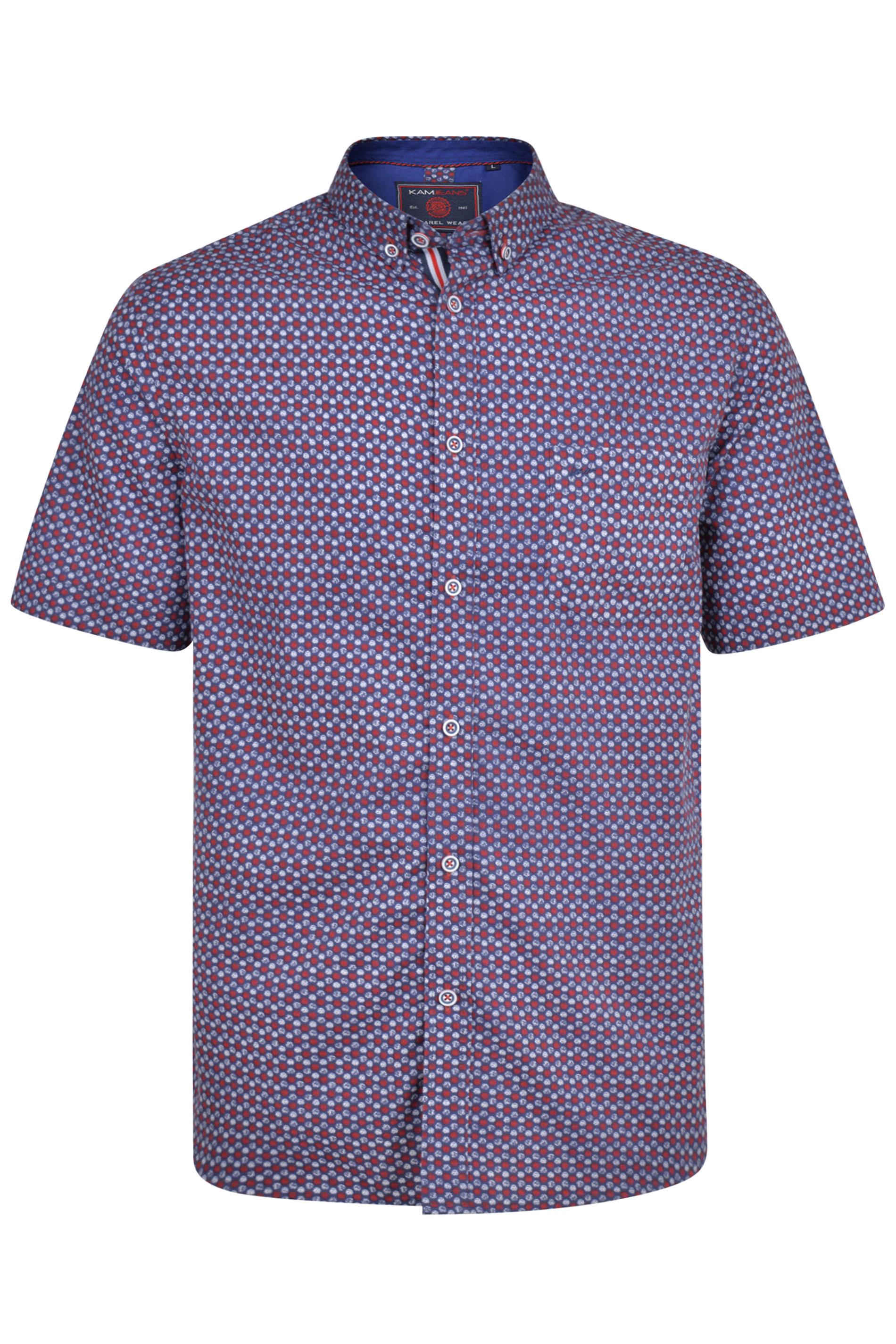 KAM Navy Dobby Shirt