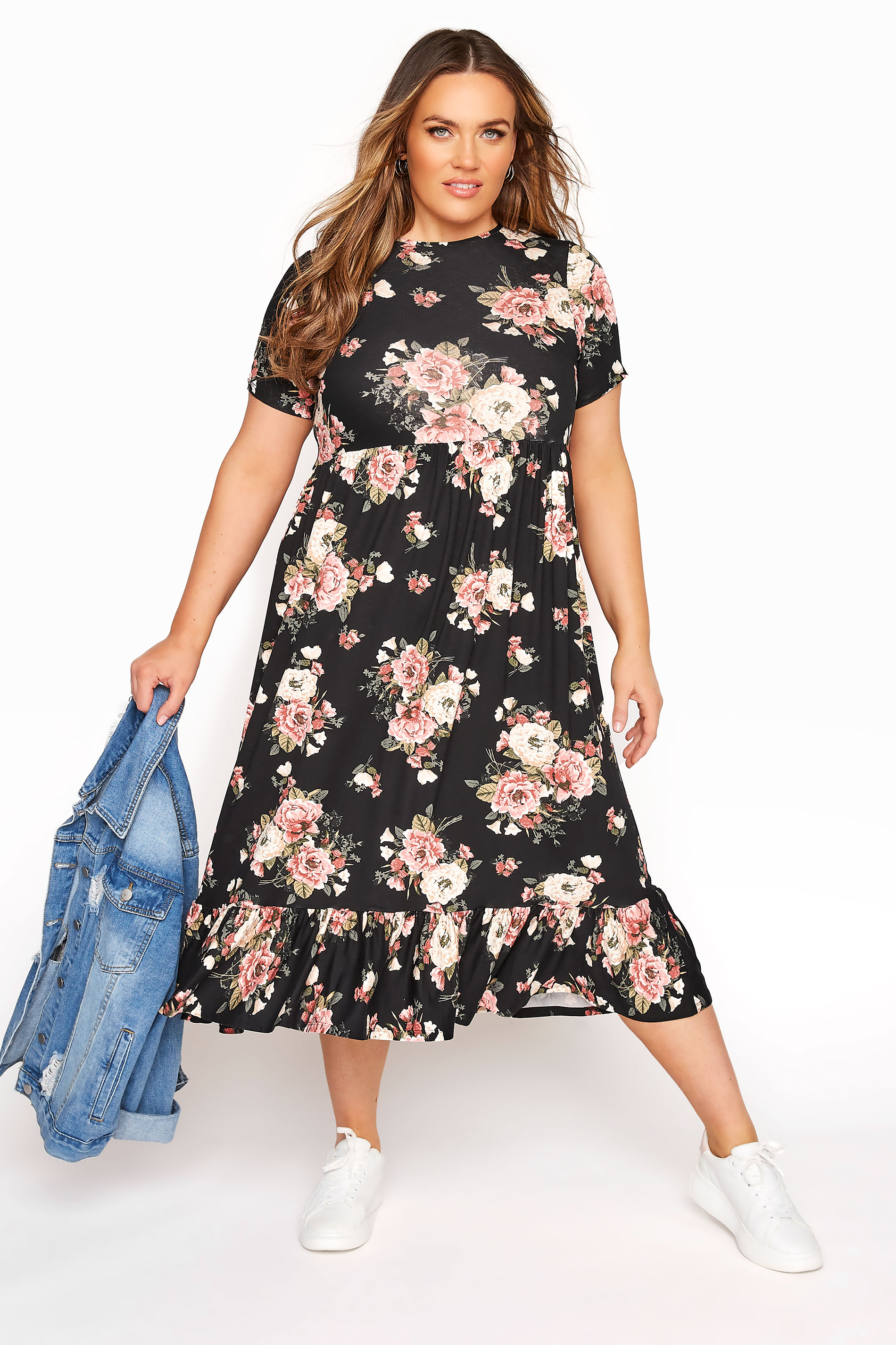 LIMITED COLLECTION Blush Rose Floral Tiered Midaxi Smock Dress_B.jpg