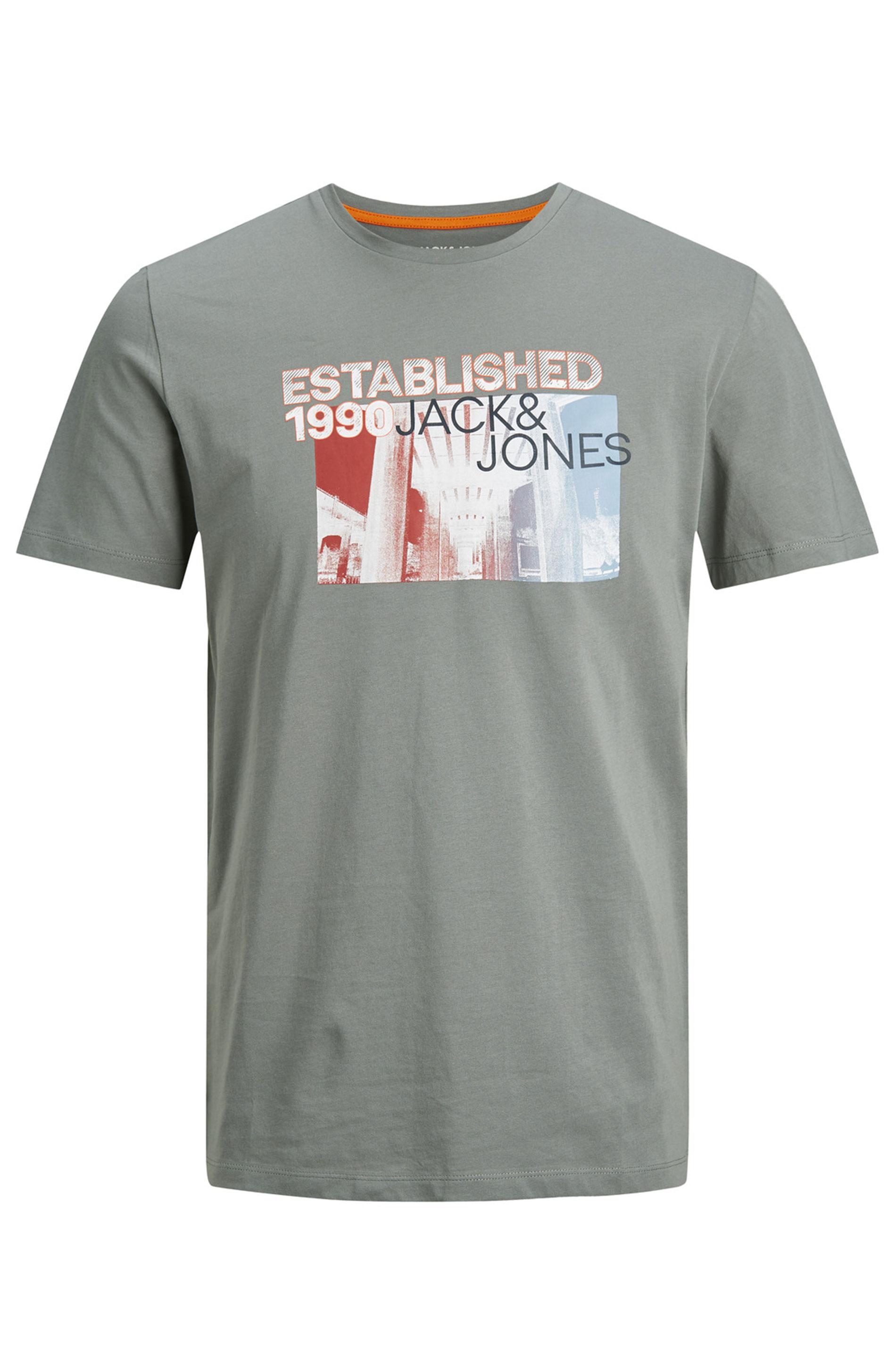 JACK & JONES Khaki Feeling Graphic Print T-Shirt