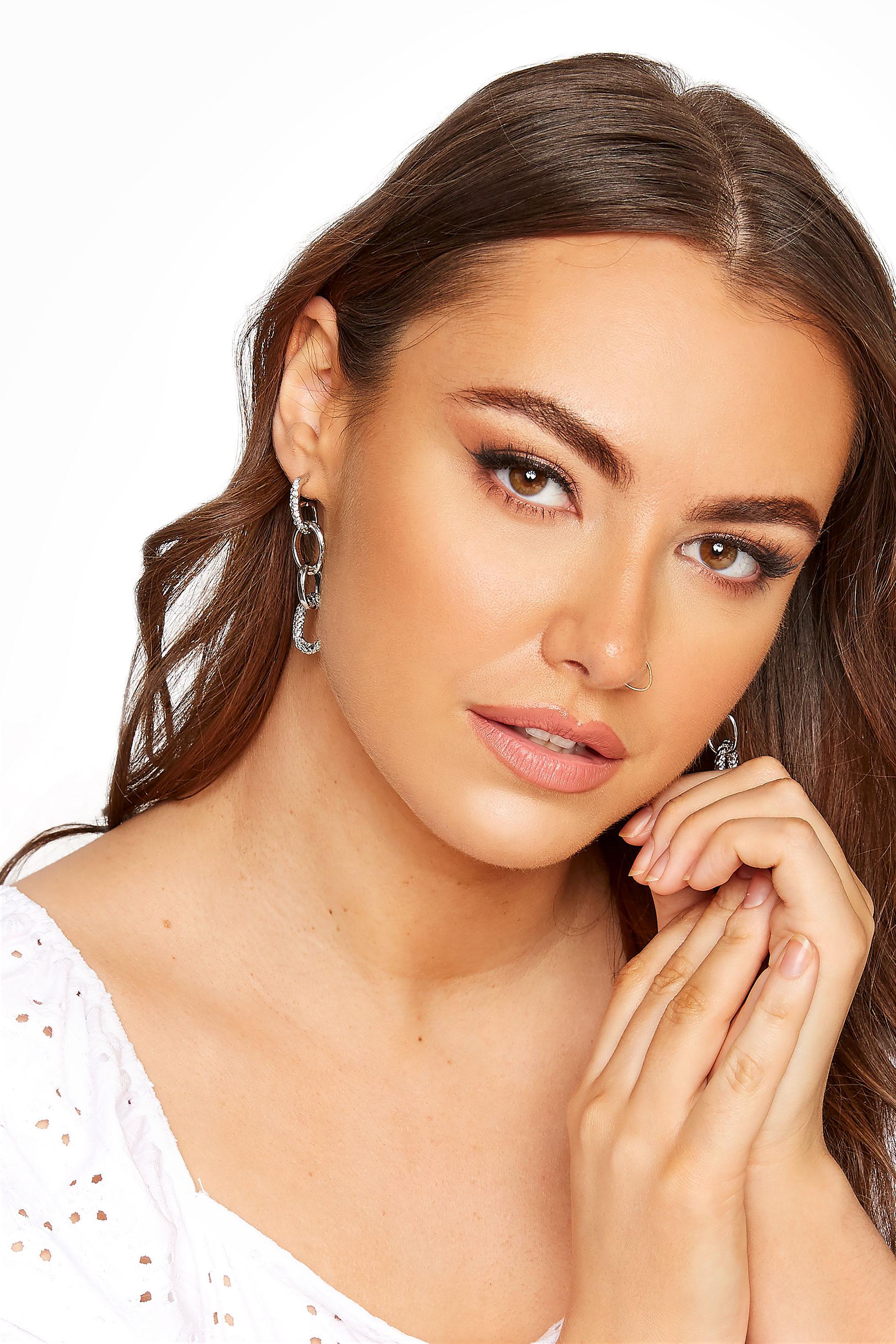 Silver Diamante Oval Drop Earrings_M.jpg