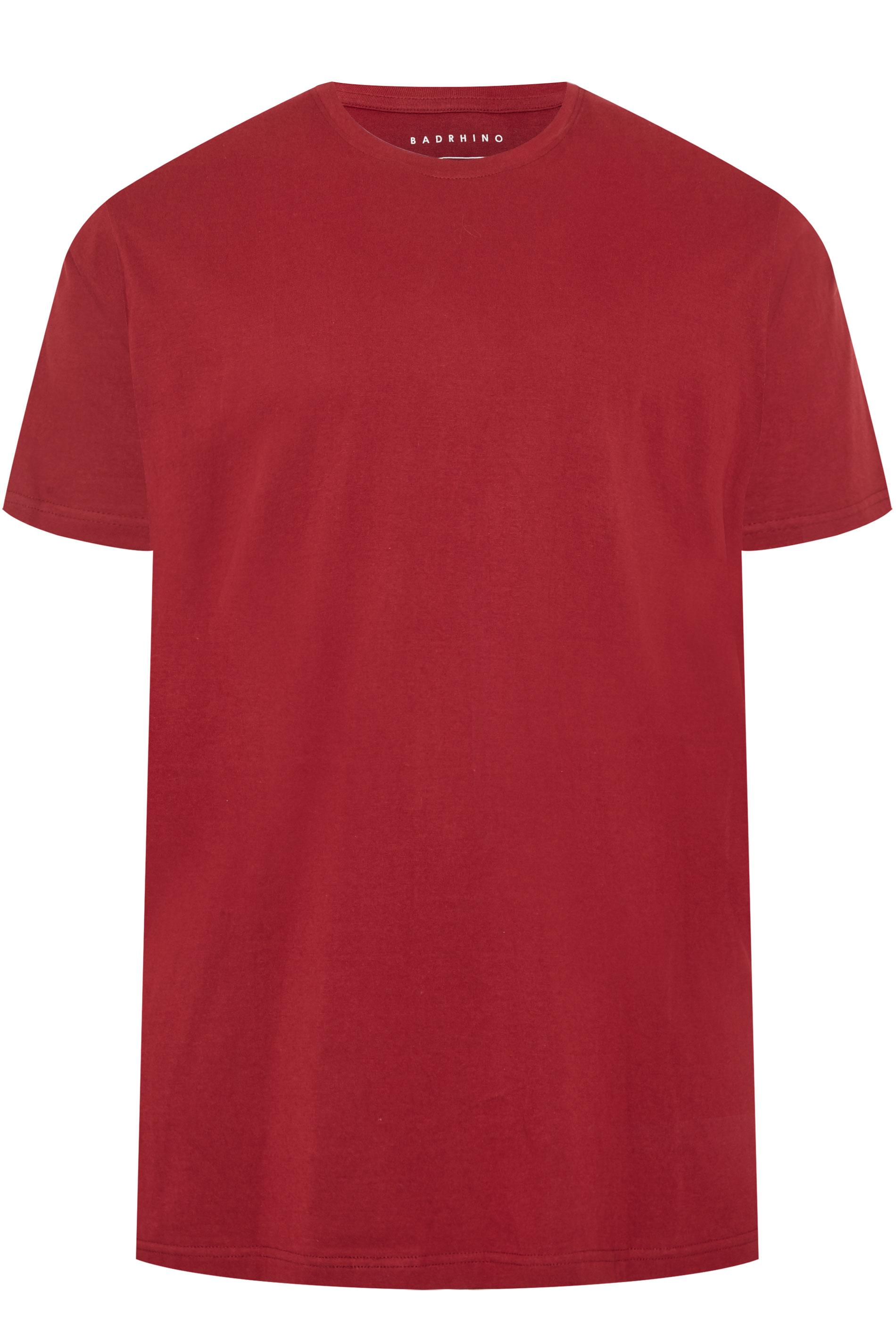 BadRhino Wine Red Embroidered Logo T-Shirt