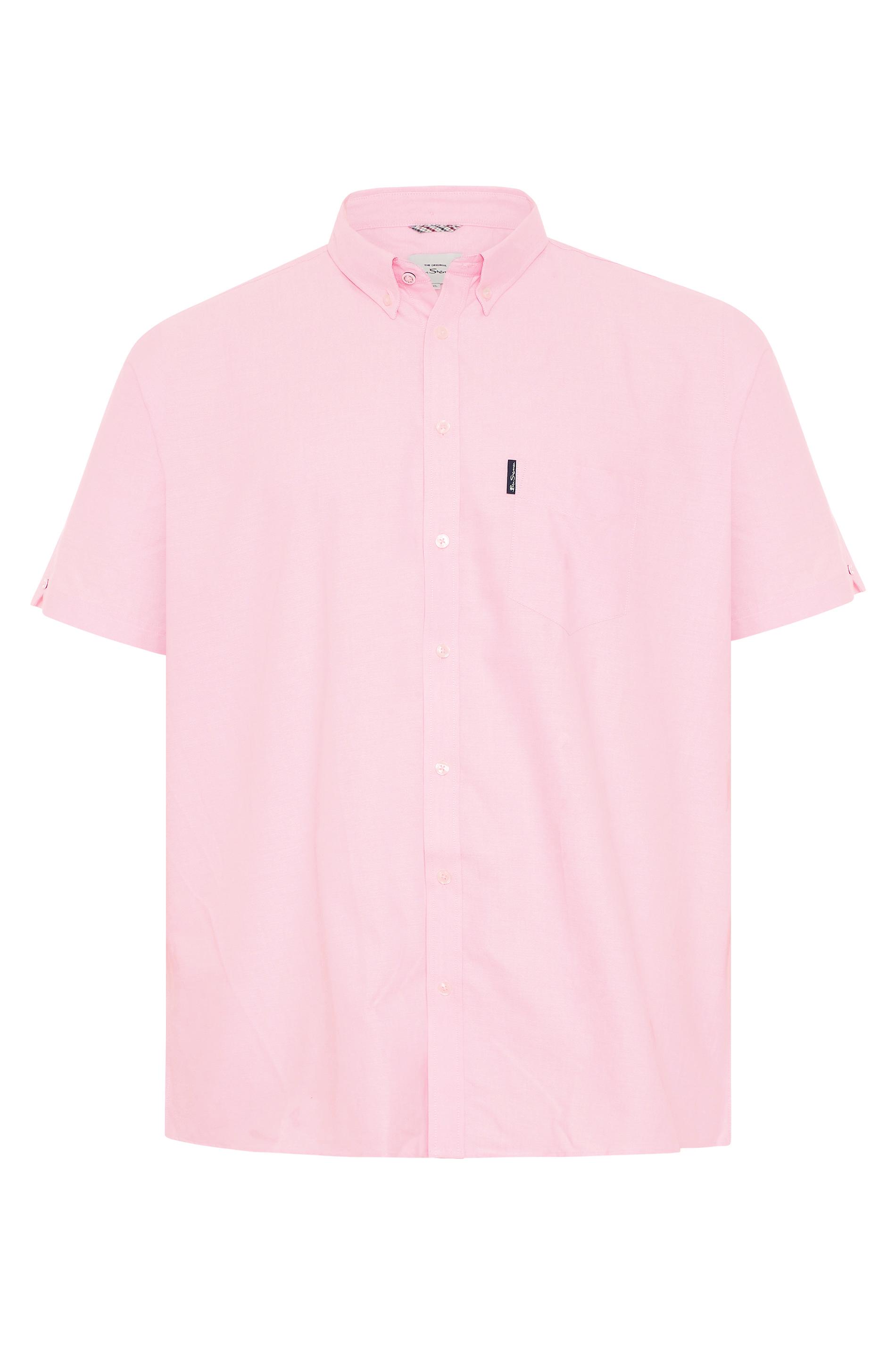 BEN SHERMAN Pink Short Sleeved Oxford Shirt