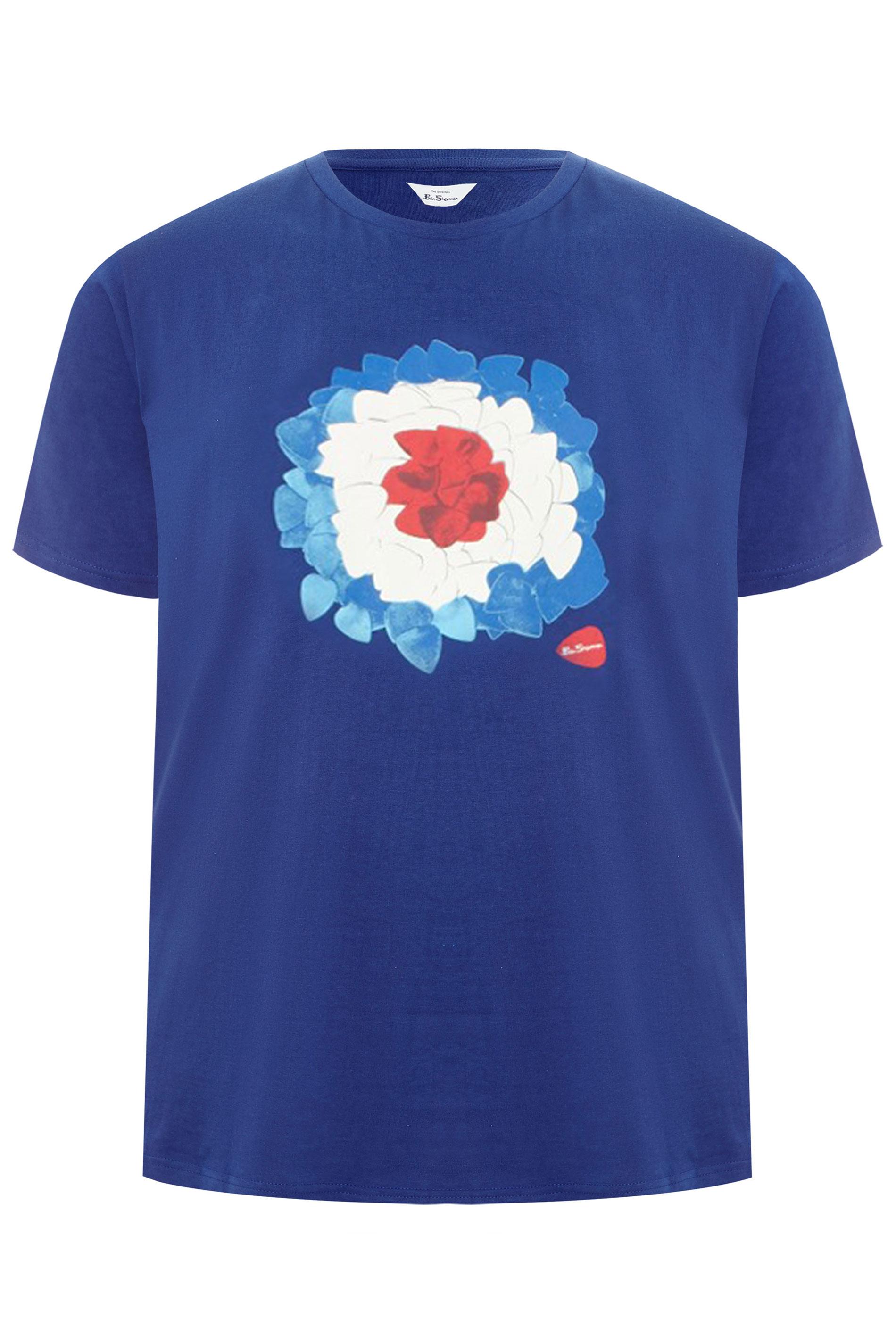 BEN SHERMAN Blue Target Graphic Print T-Shirt