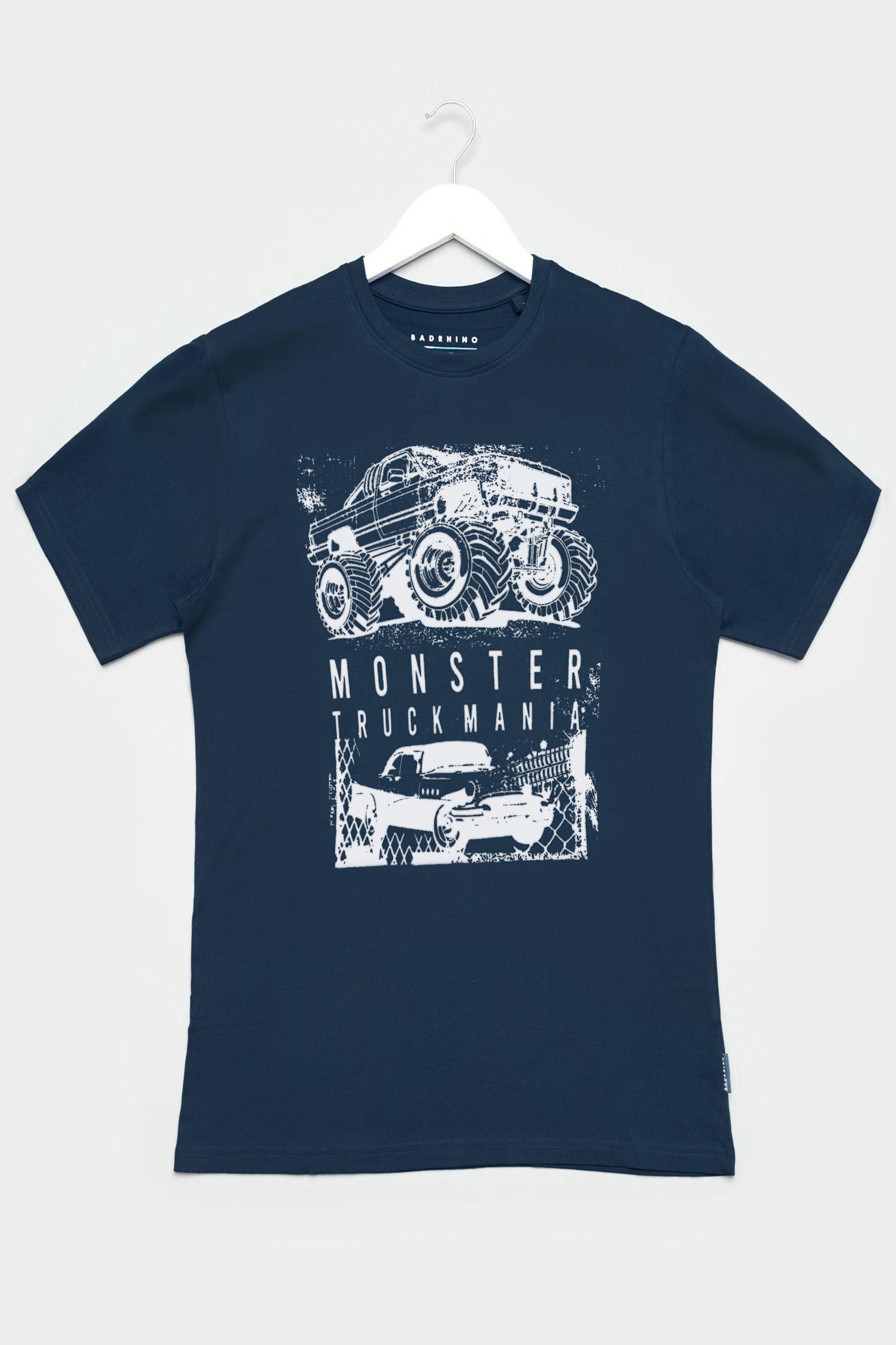 BadRhino Navy Truck Graphic Print T-Shirt