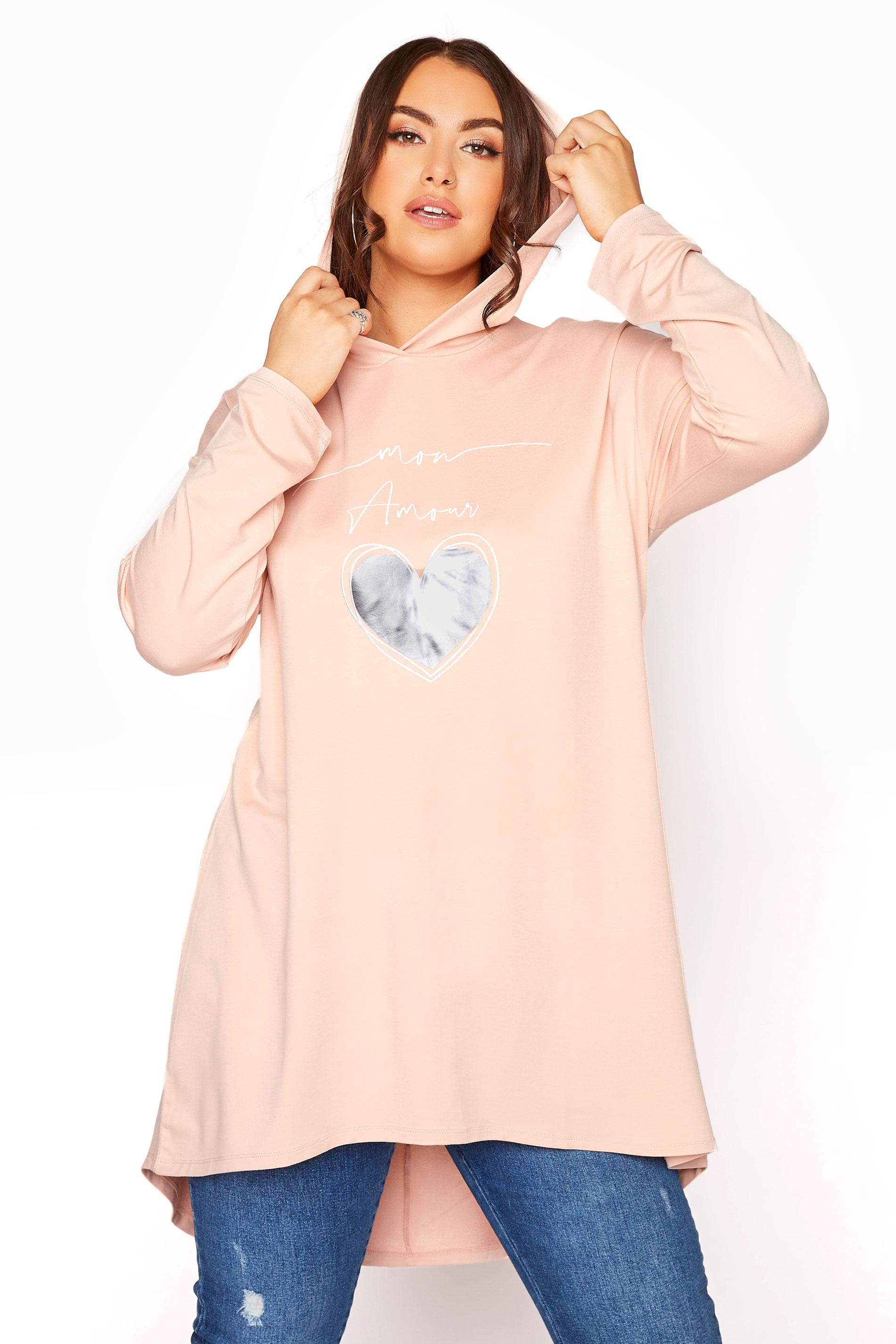 Peach 'Mon Amour' Print Hoodie Tunic_D.jpg