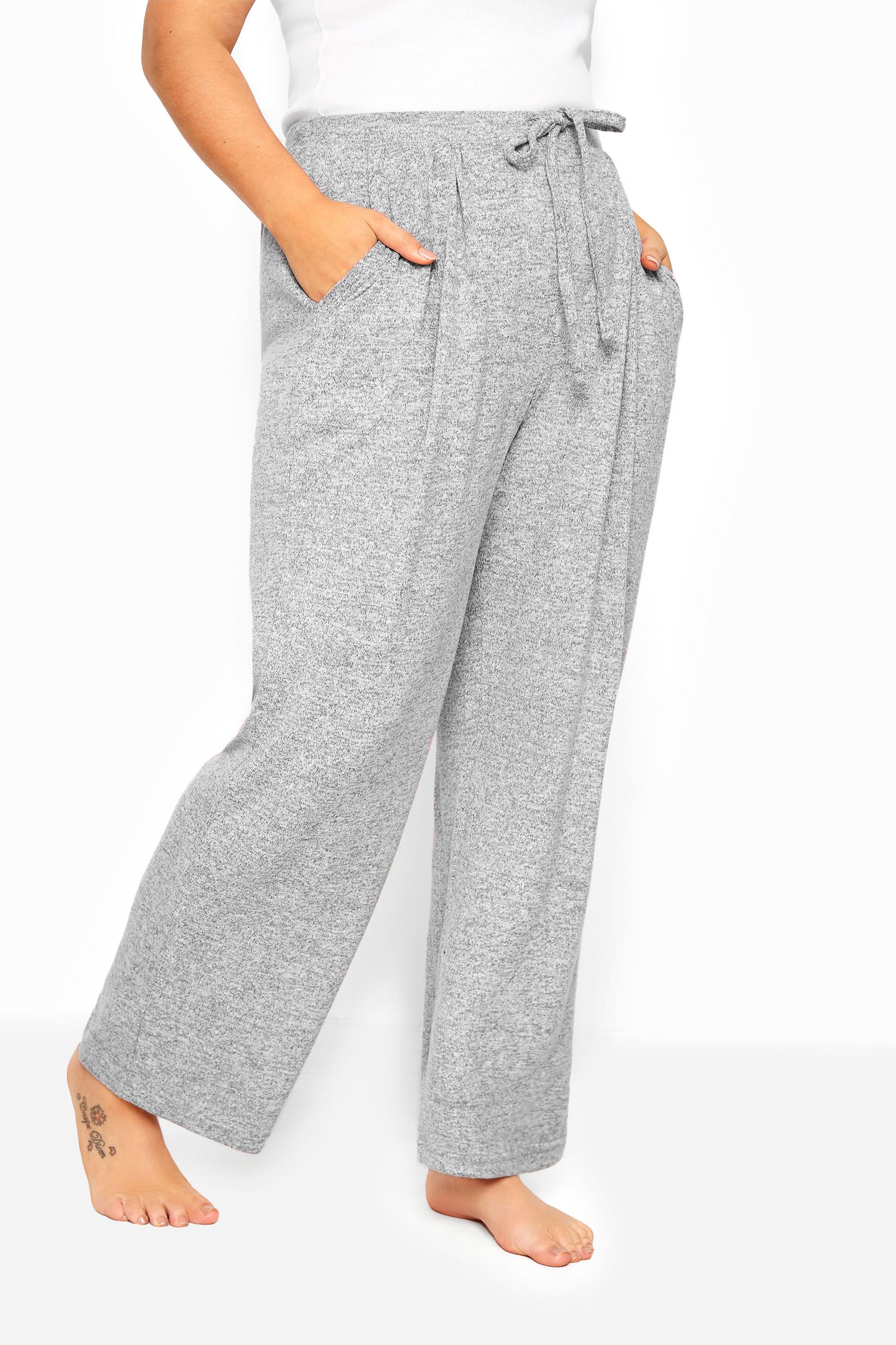 Grey Marl Wide Leg Lounge Pants