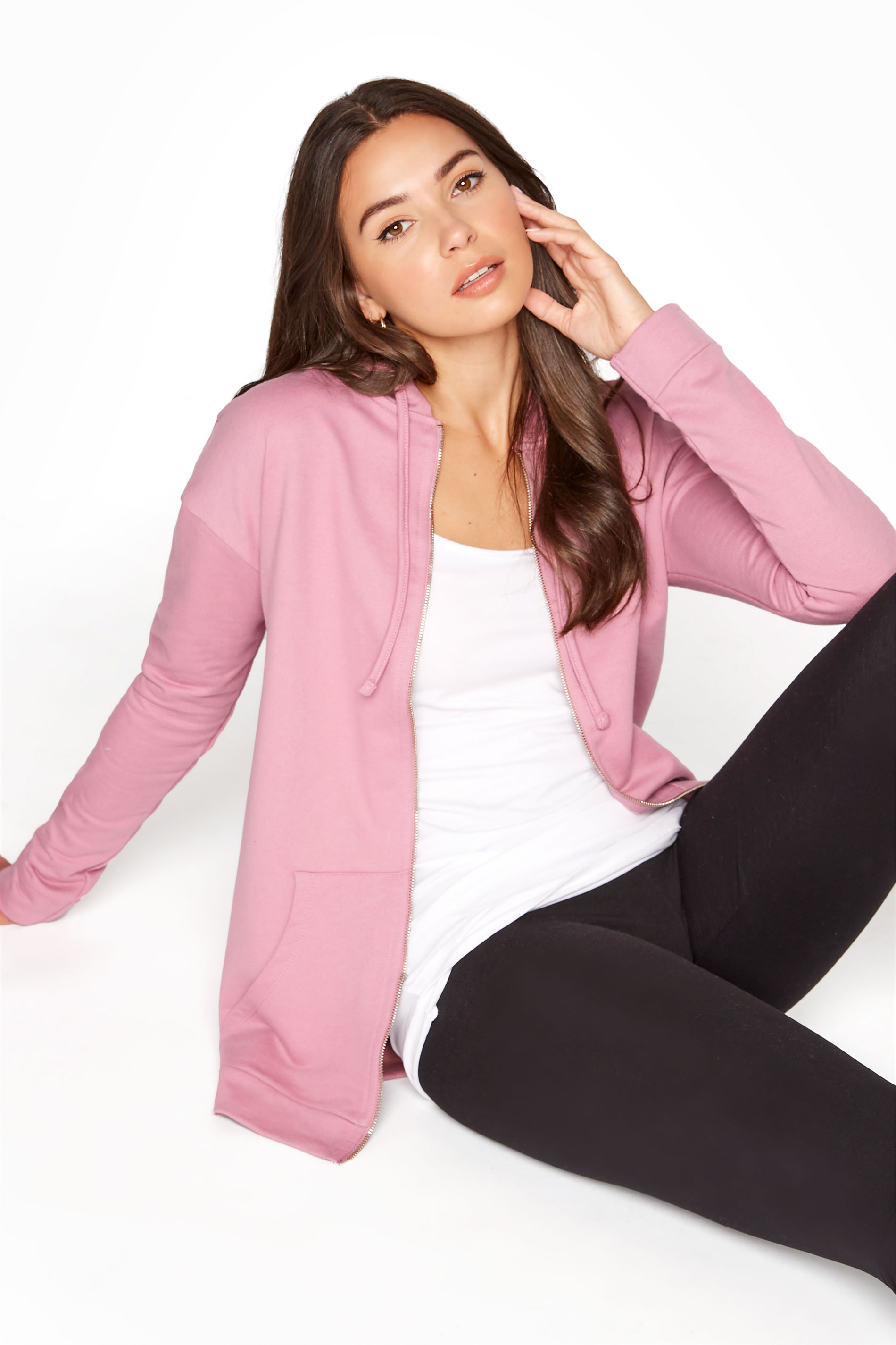 LTS Pink Zip Through Hoodie