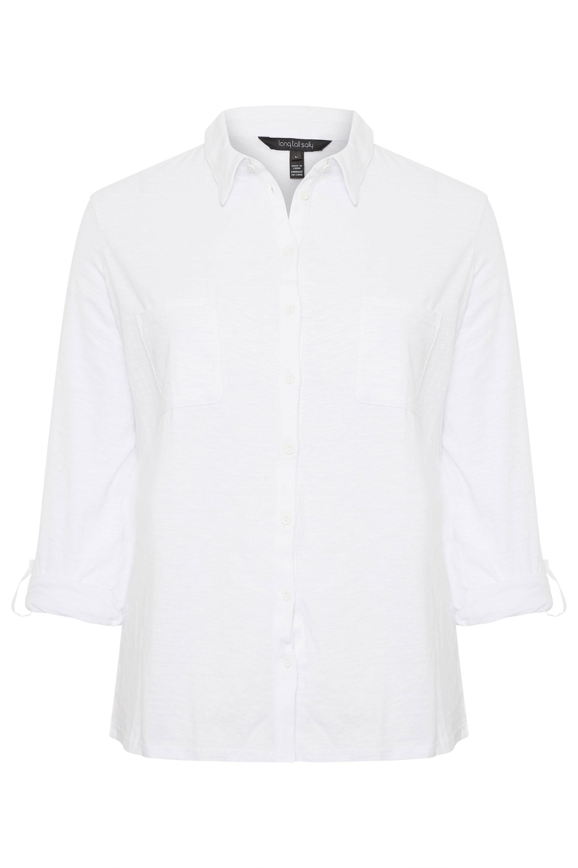White Washed Jersey Shirt