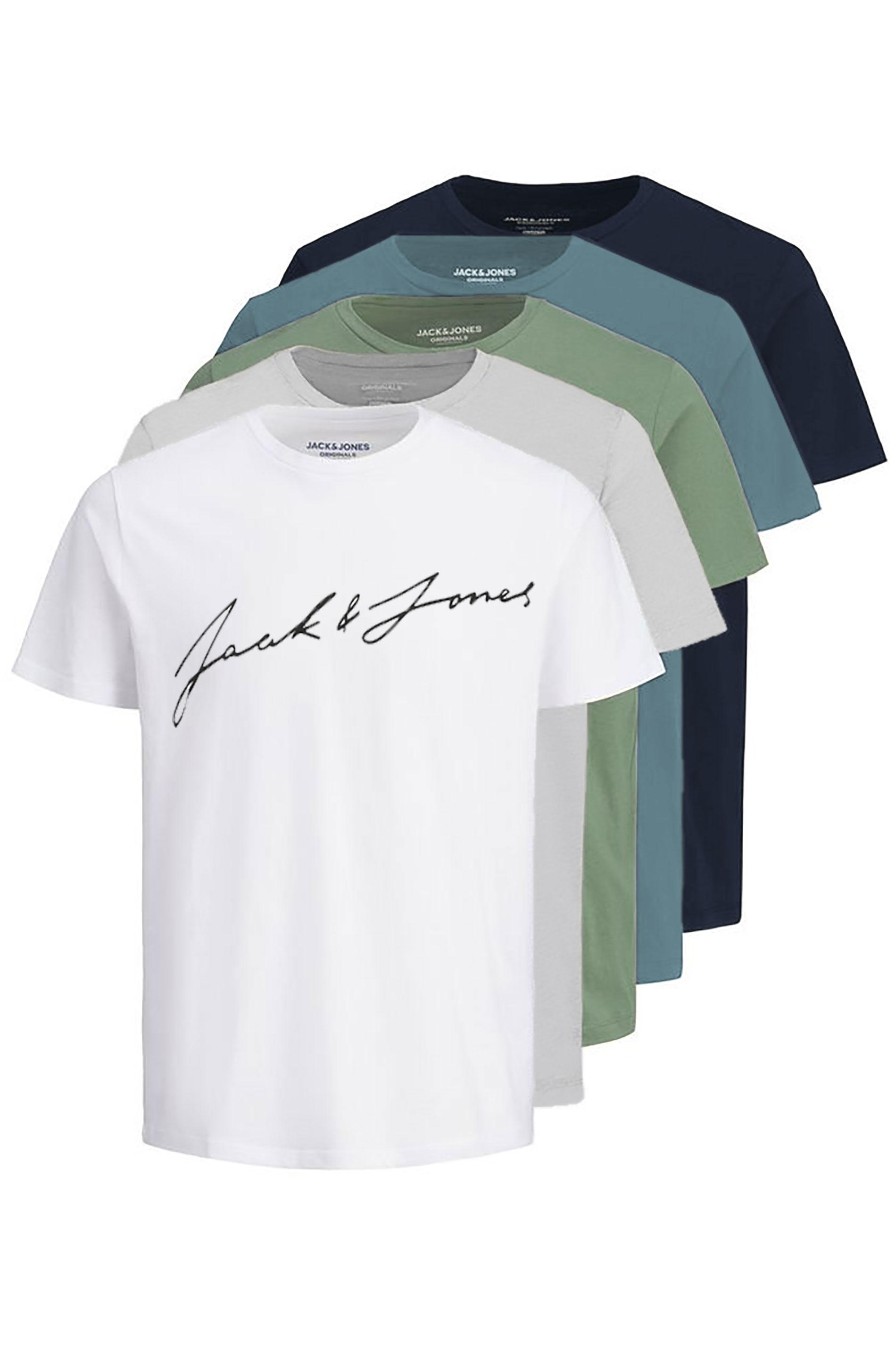 JACK & JONES Multi JORJAX 5 Pack T-Shirts
