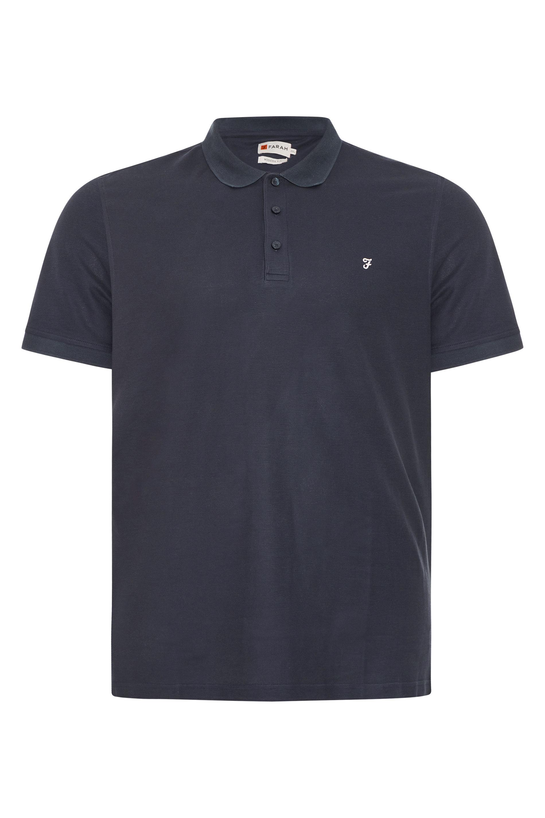 FARAH Navy Polo Shirt_F.jpg