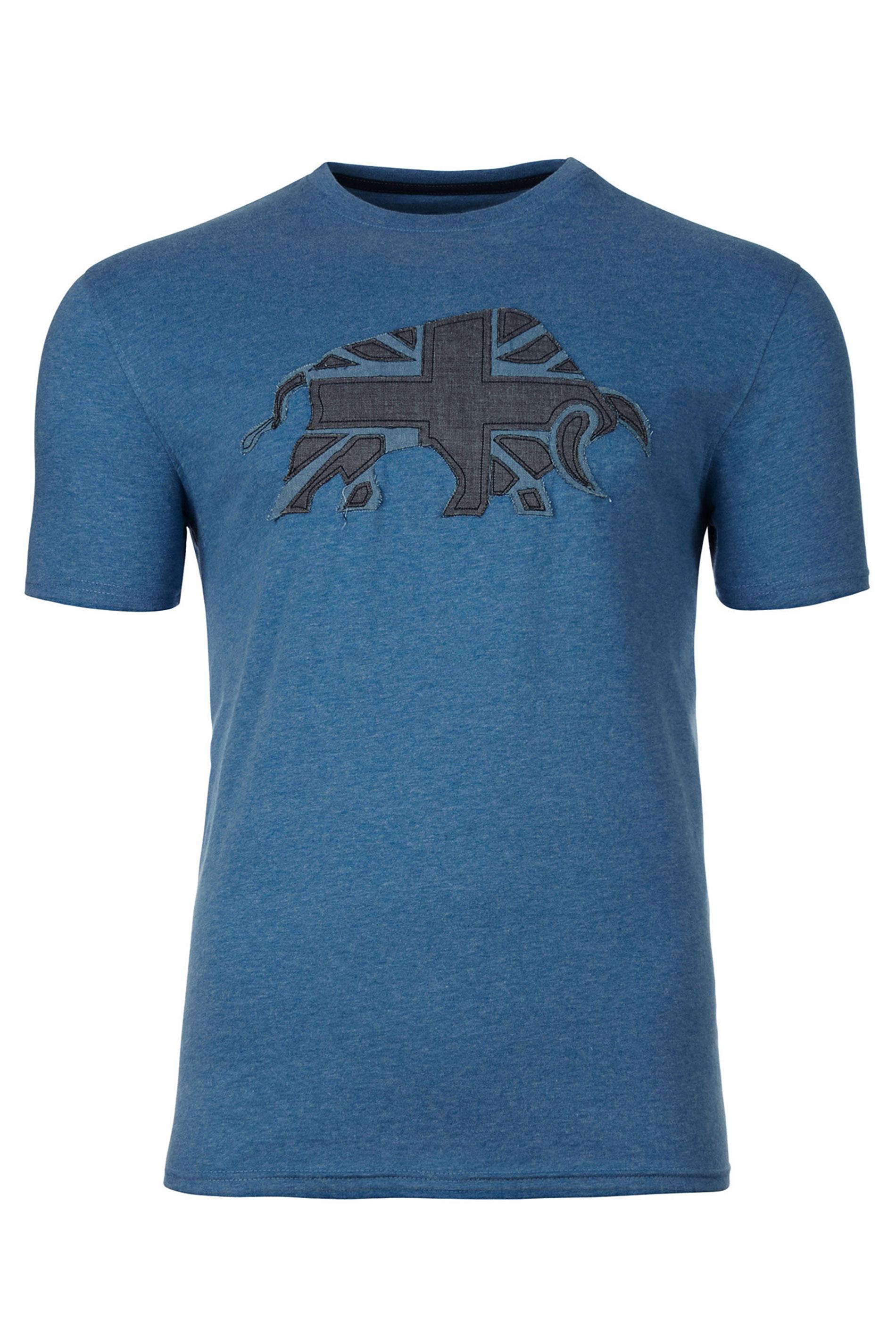 RAGING BULL Blue Velvet Logo T-Shirt