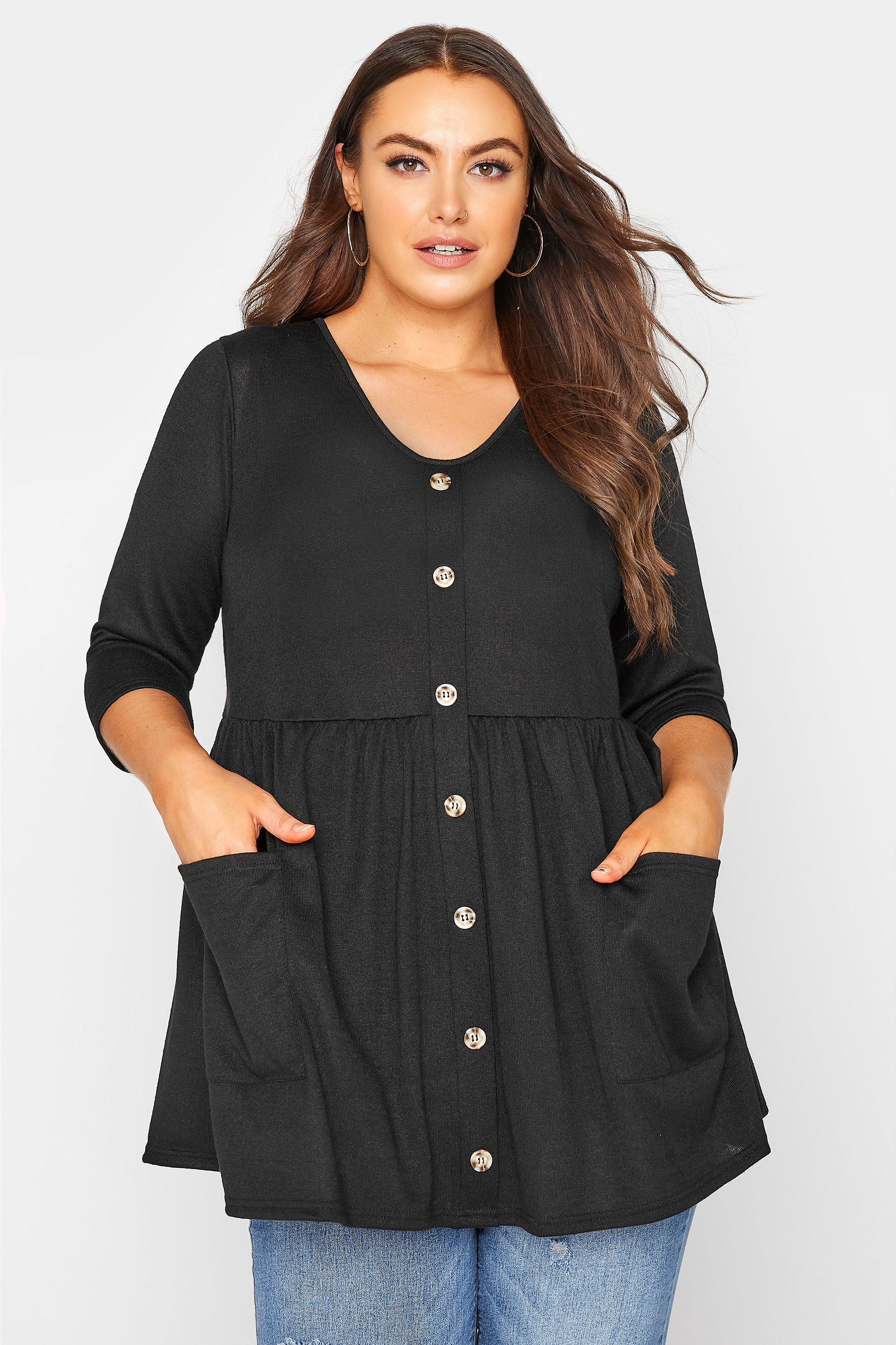 Black Mock Button Knitted Top_A.jpg