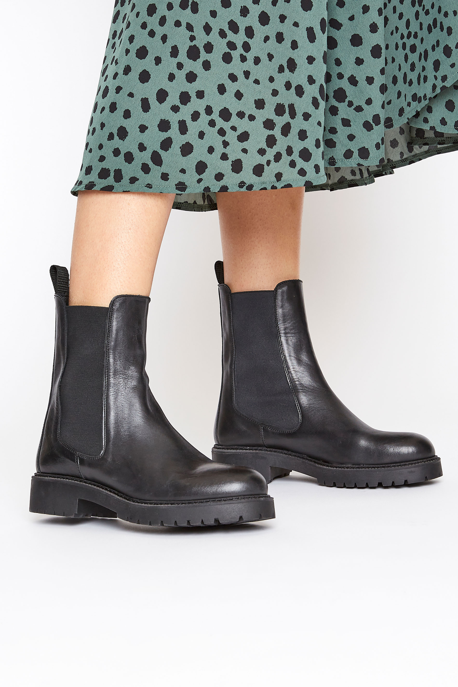Black Leather Chelsea Boots
