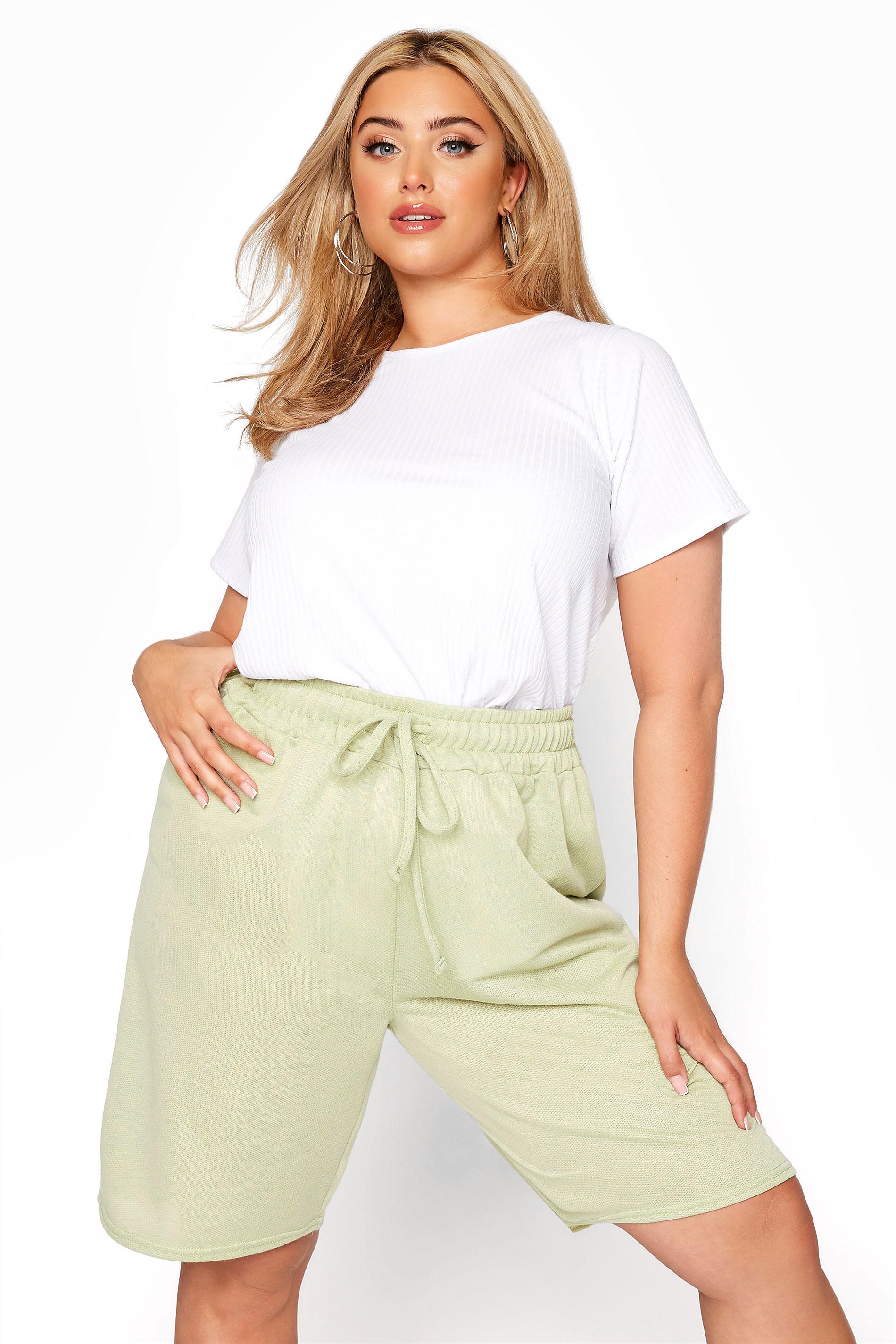 Sage Green Jersey Jogger Shorts_A.jpg