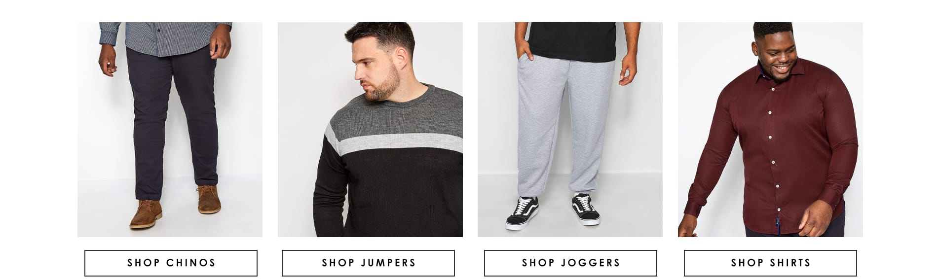 Chinos/Jumpers/Joggers/Shirts