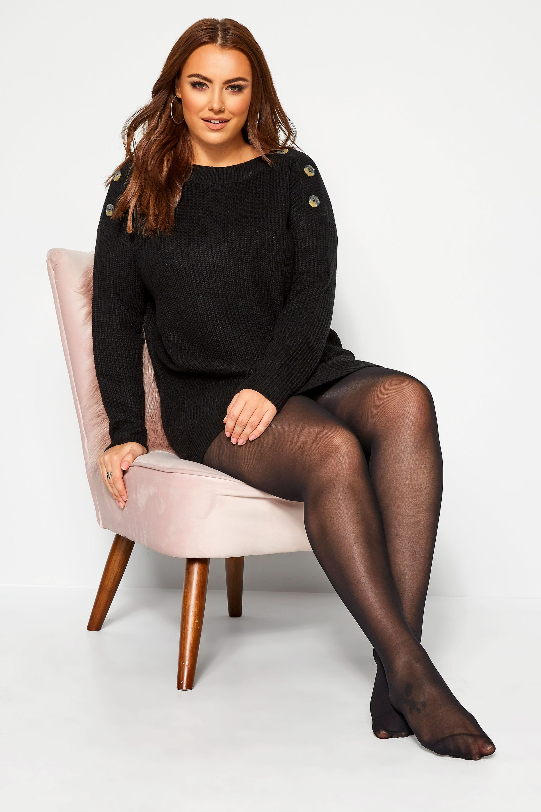 Yours SUSTAINABLE Black 50 Denier Recycled Tights