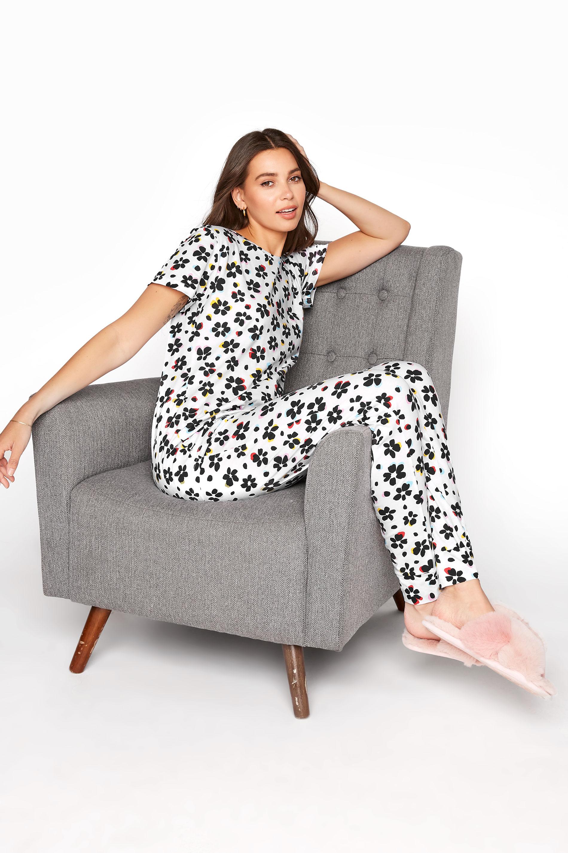 LTS White Floral Pyjama Set