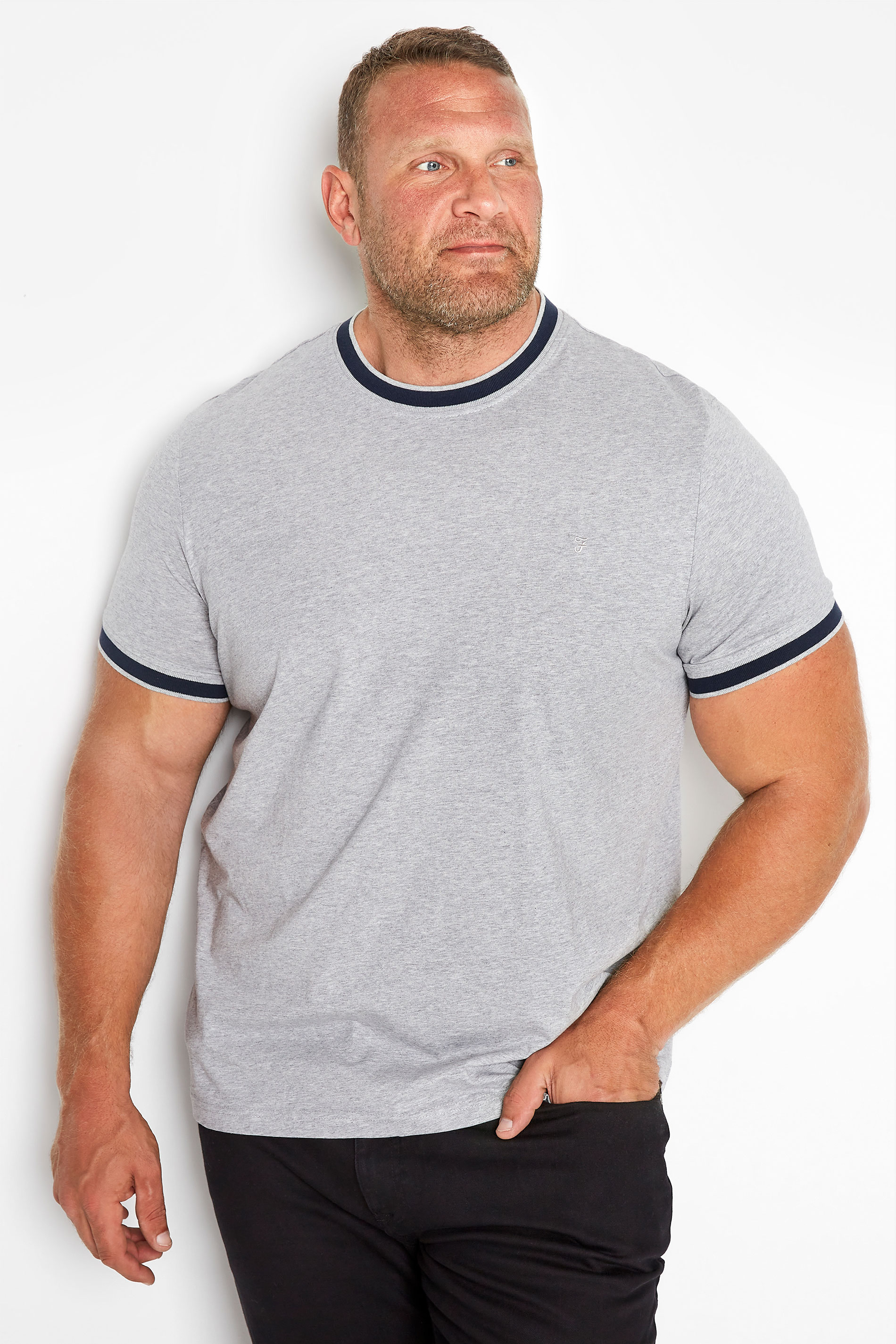 FARAH Grey Spruce T-Shirt_M.jpg