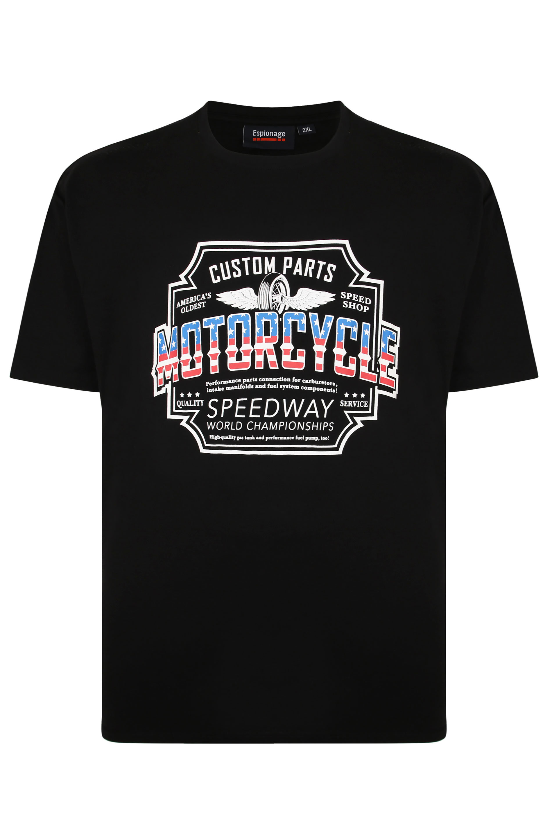 ESPIONAGE Black 'Motorcycle' Graphic T-Shirt_F.jpg