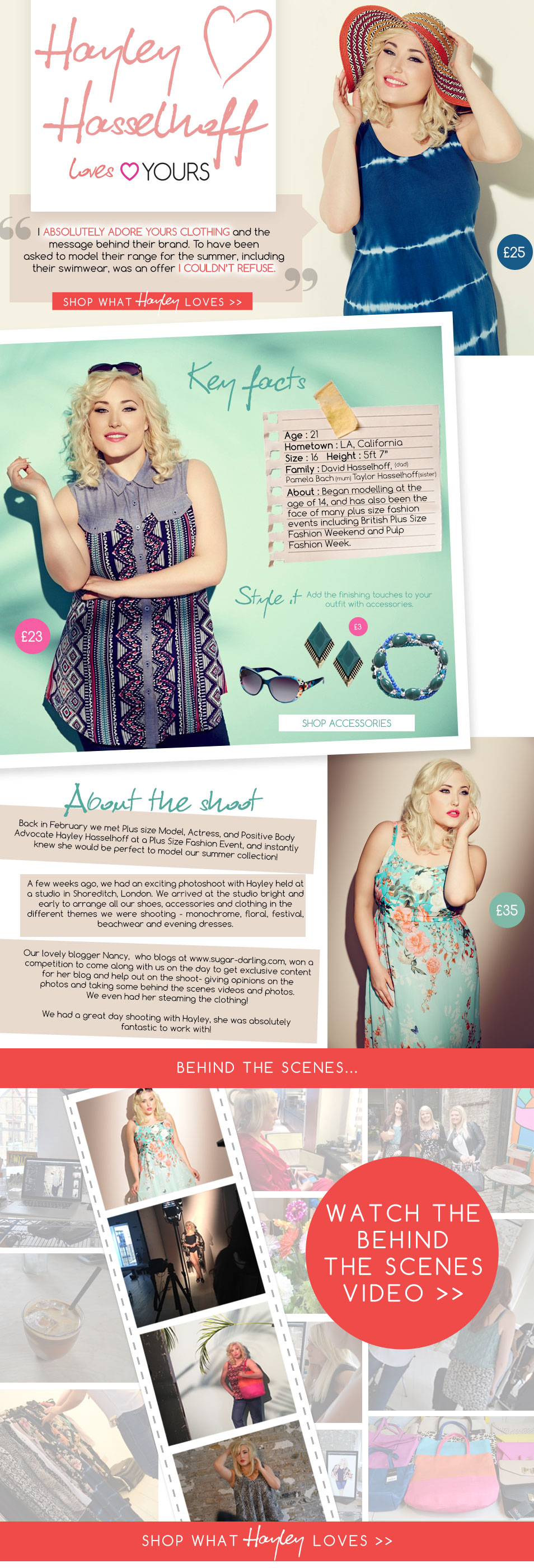 Hayley Hasselhoff for Yours Clothing