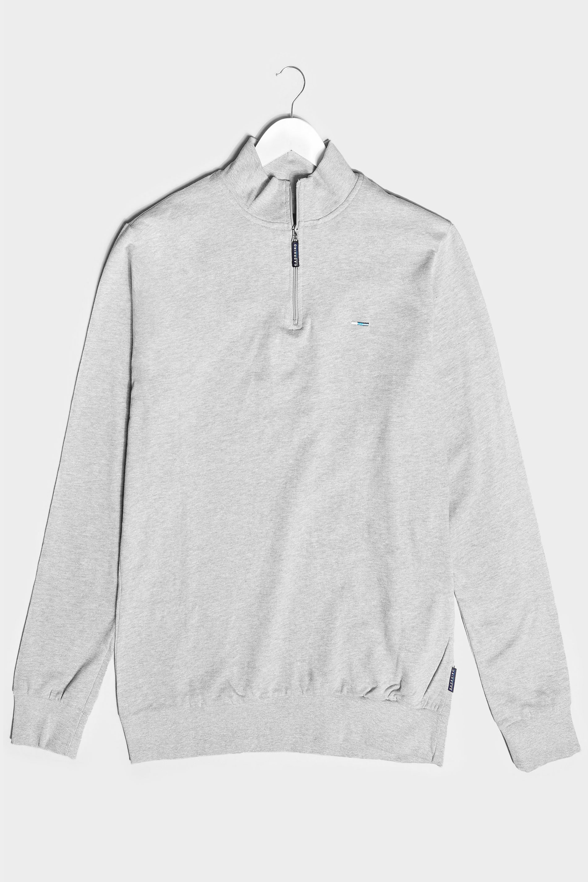 BadRhino Grey Marl Quarter Zip Essential Sweatshirt