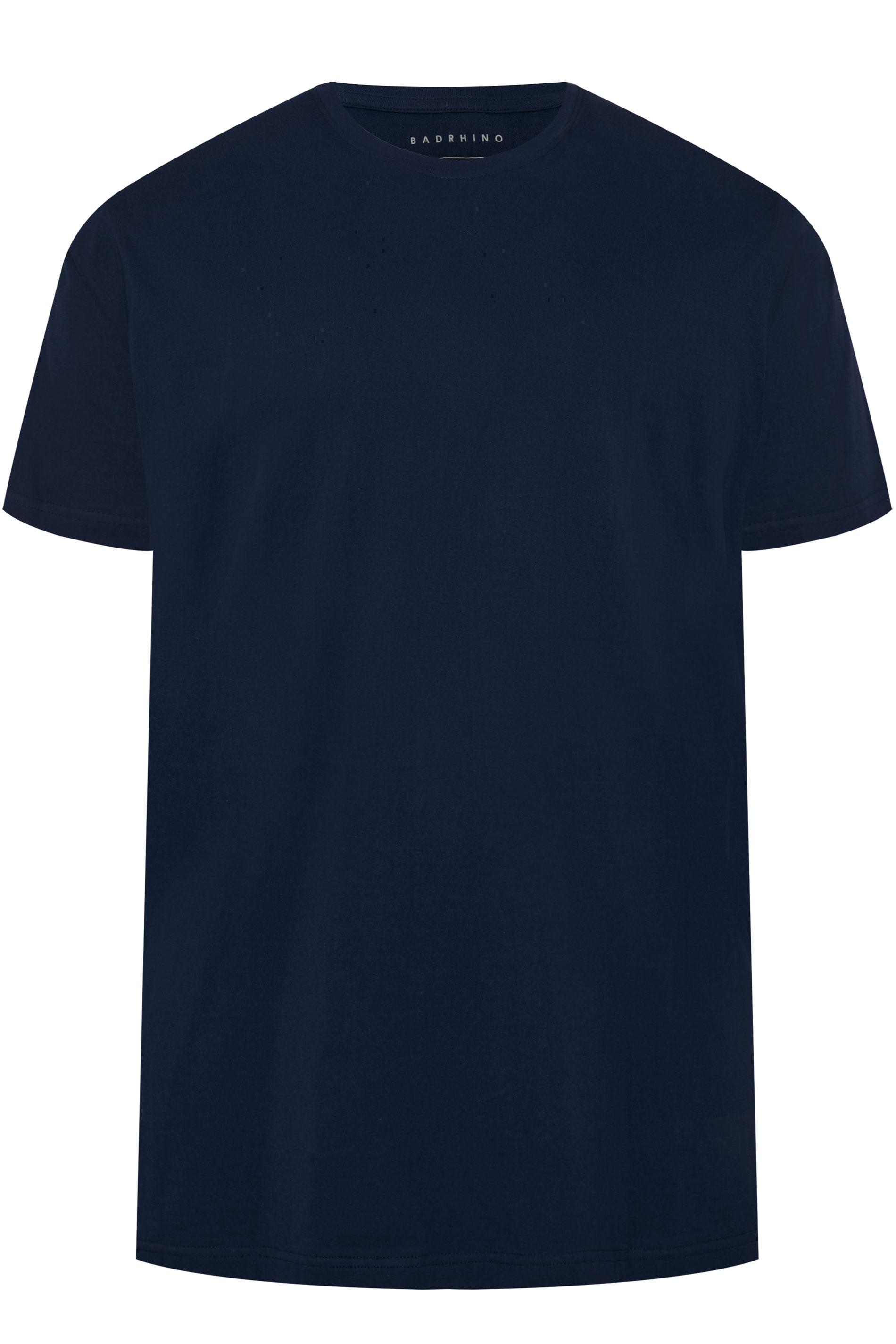 BadRhino Navy Embroidered Logo T-Shirt