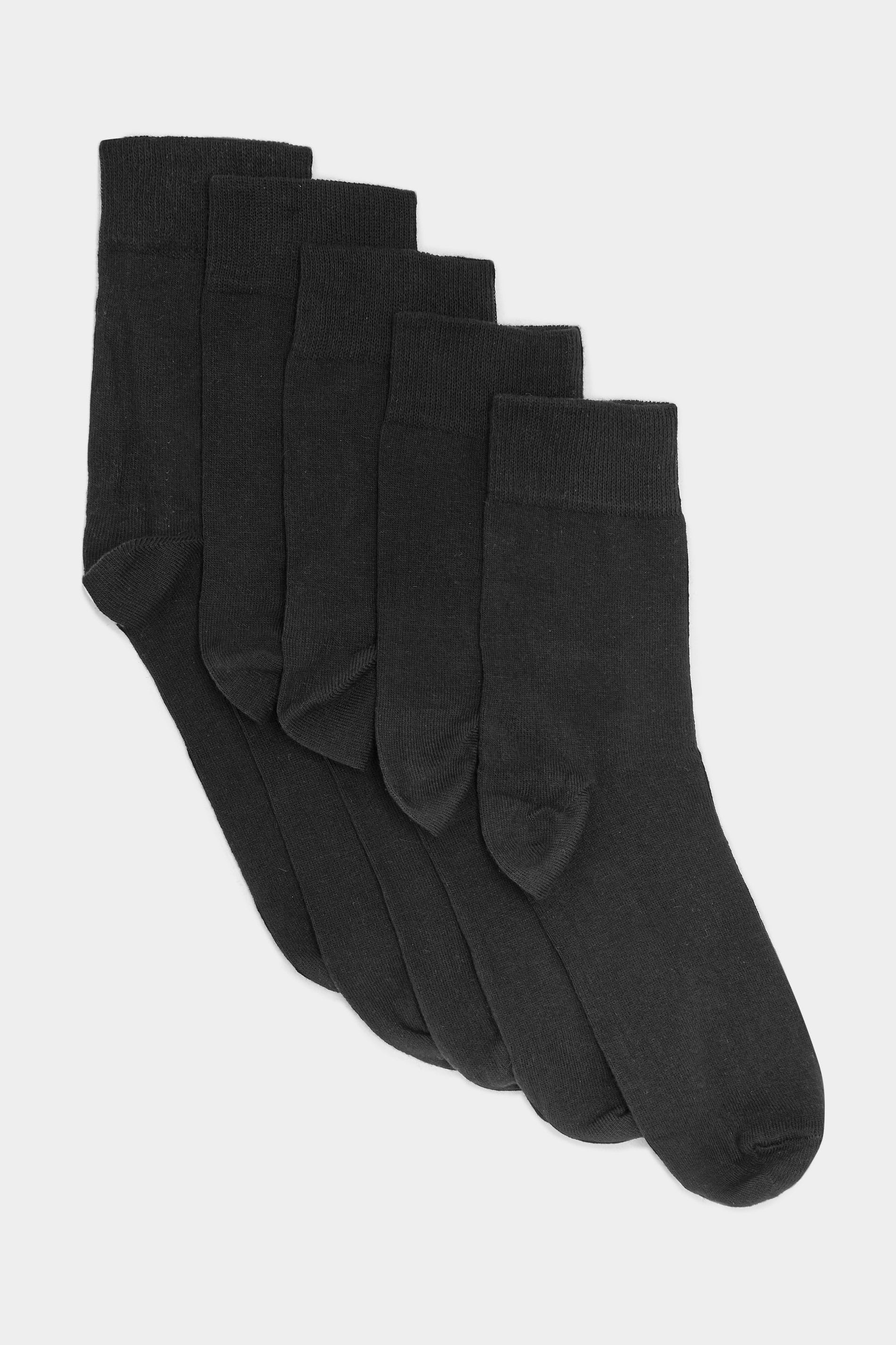 5 PACK BadRhino Plain Black Socks