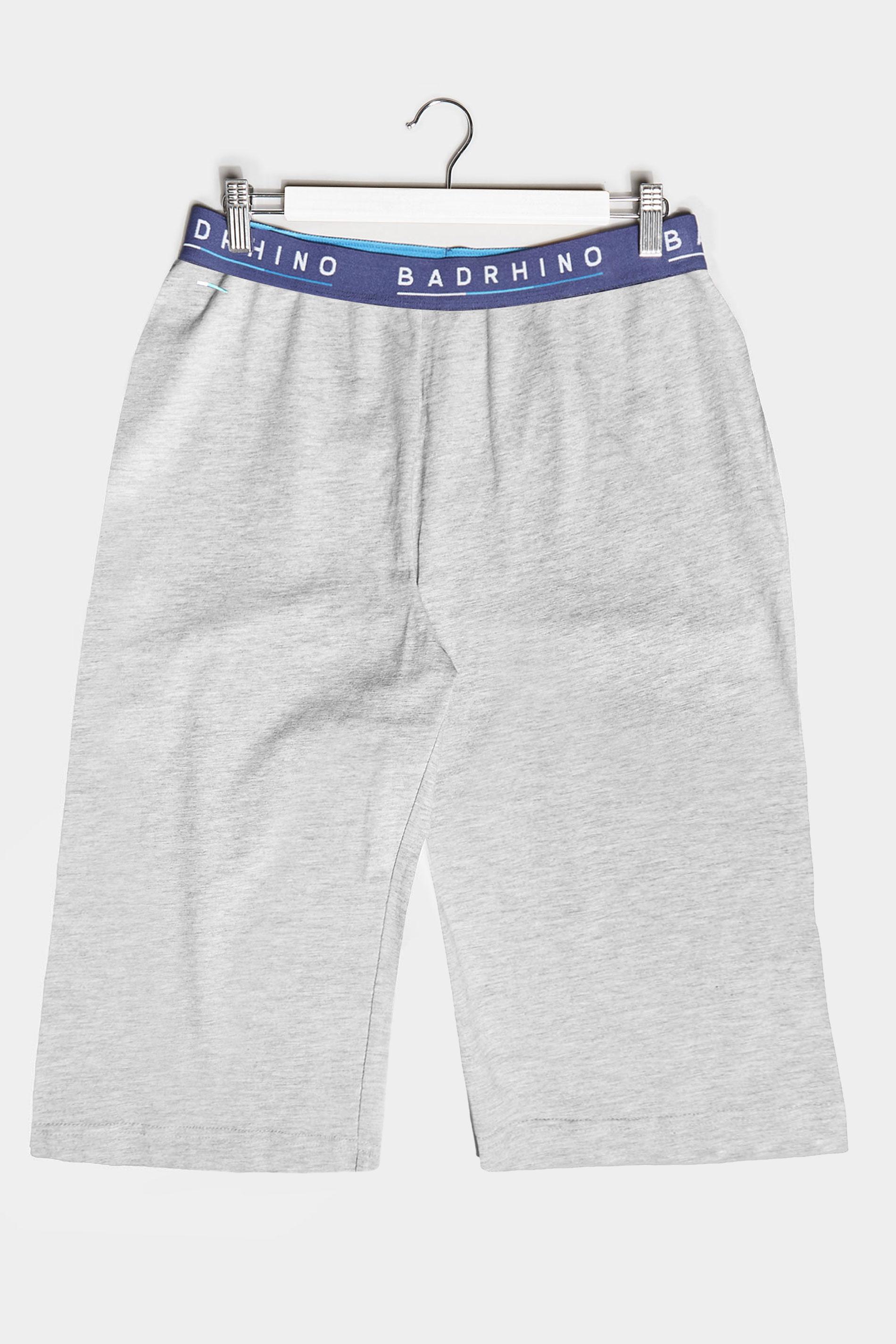 BadRhino Grey Marl Essential Lounge Shorts