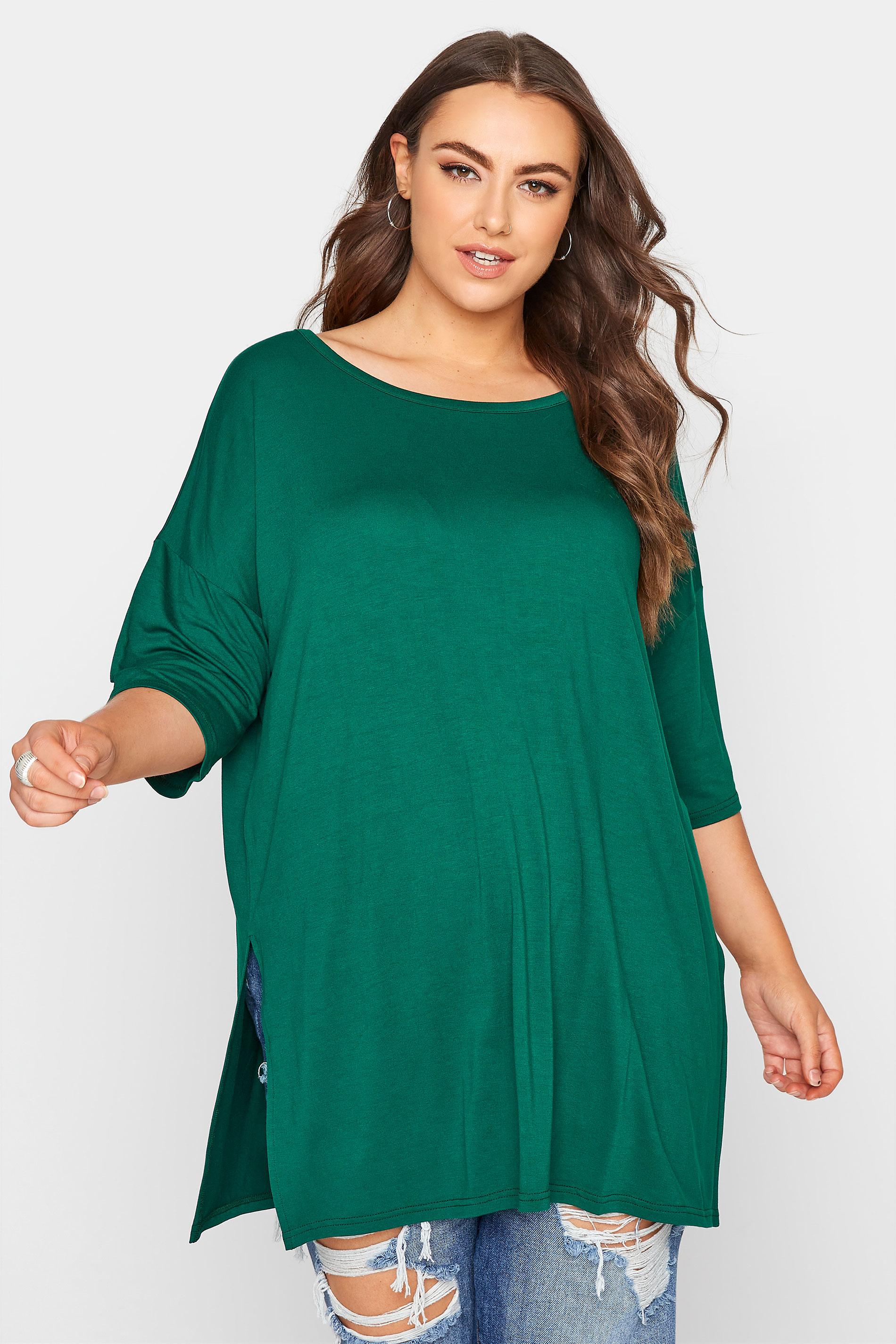 Emerald Green Oversized Jersey T-Shirt_A.jpg