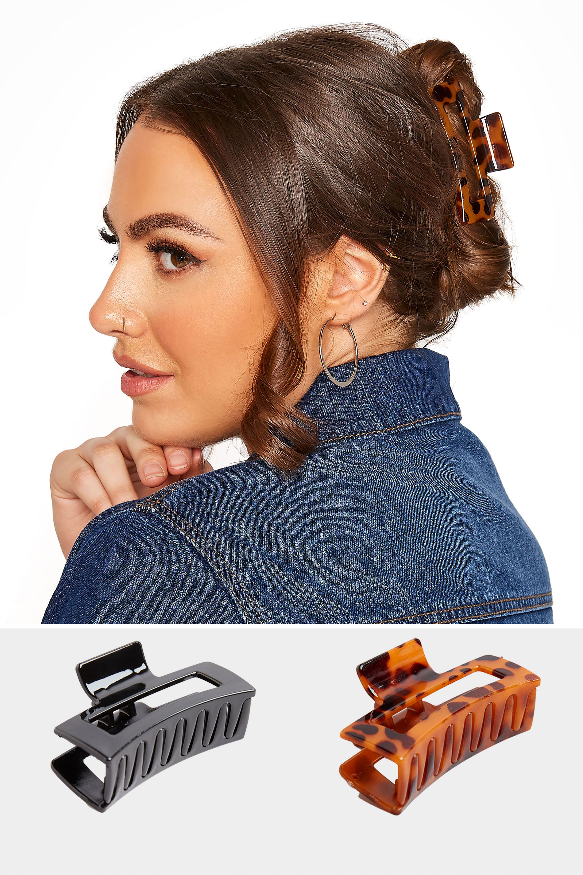 Yours 2 PACK Tortoiseshell and Black Hair Clips