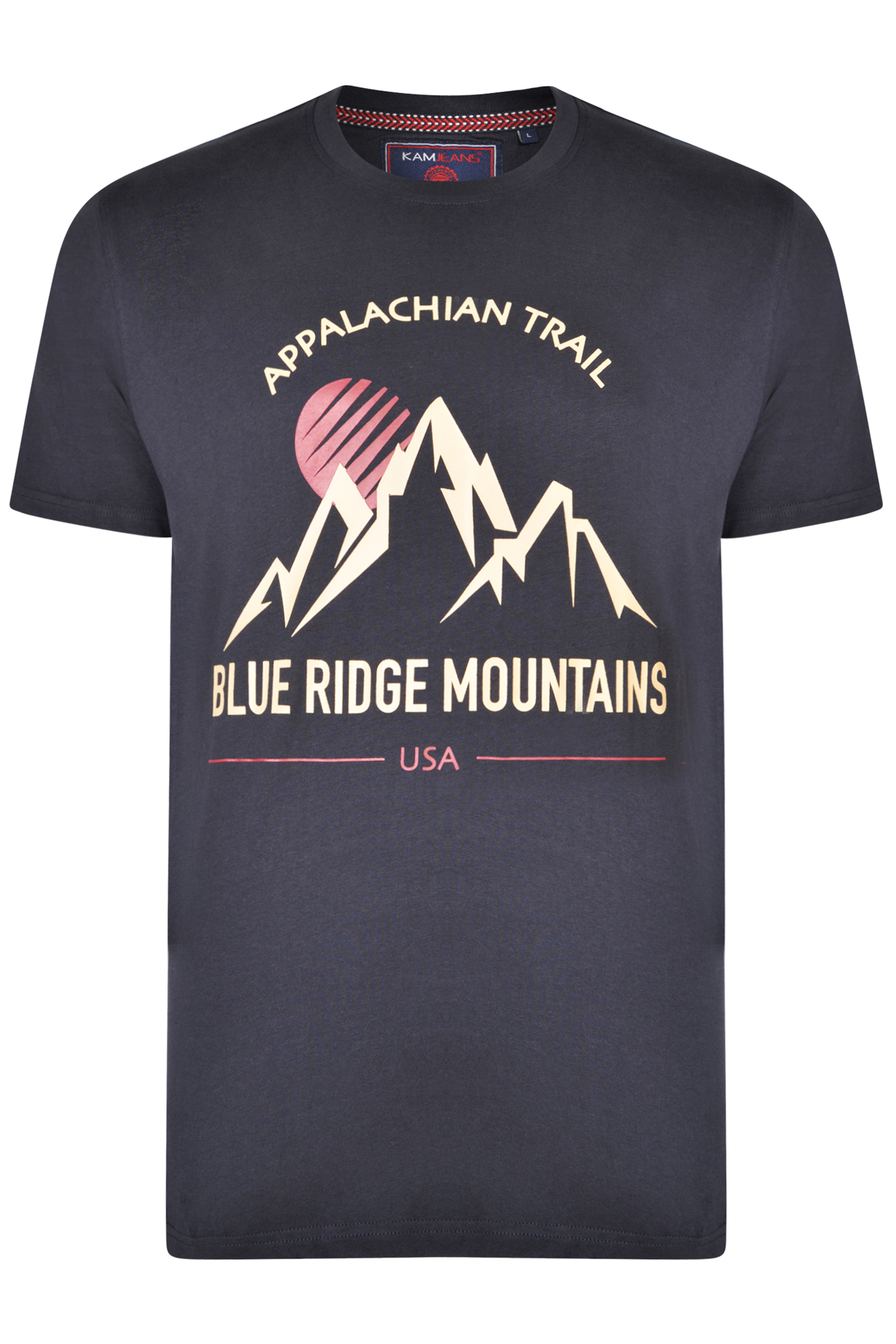 KAM Black Mountain Trail Graphic Print T-Shirt