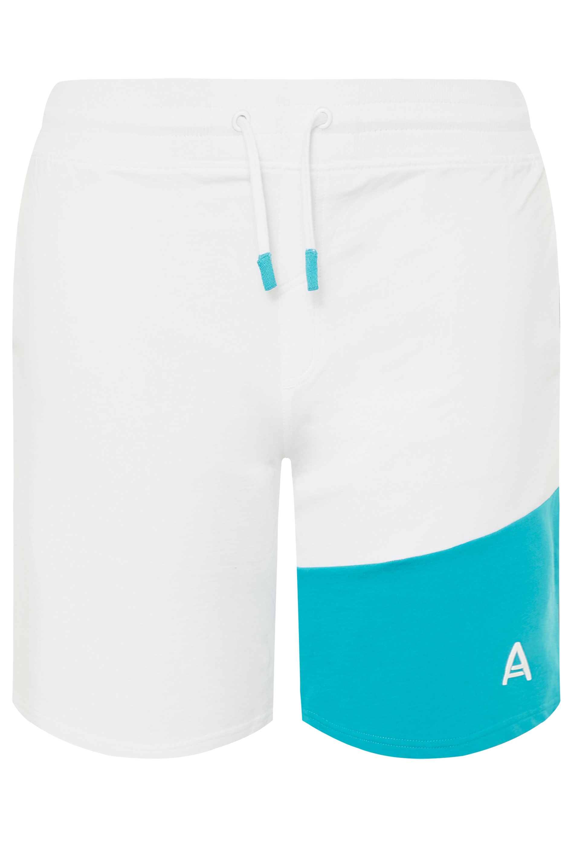 STUDIO A White Colour Block Shorts